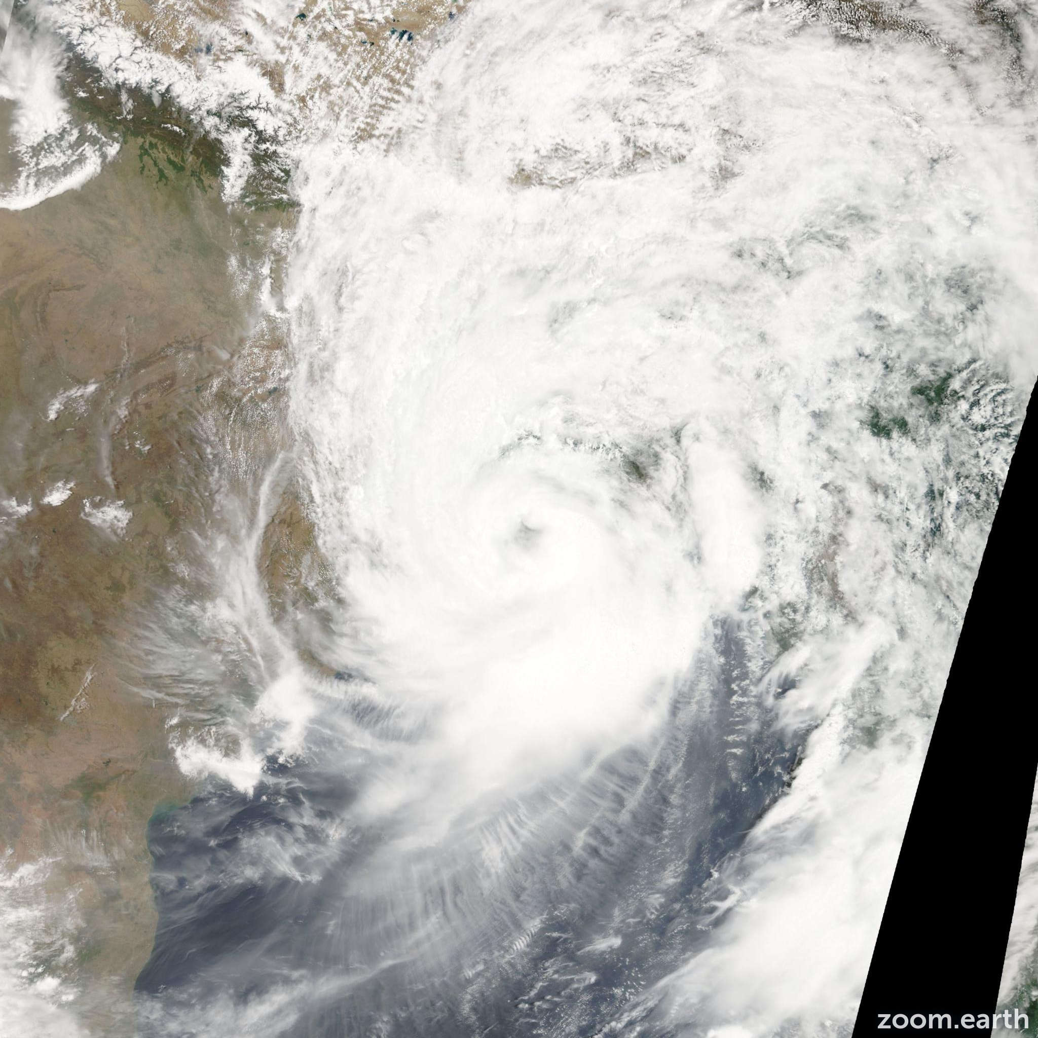 Satellite image of Cyclone Aila 2009