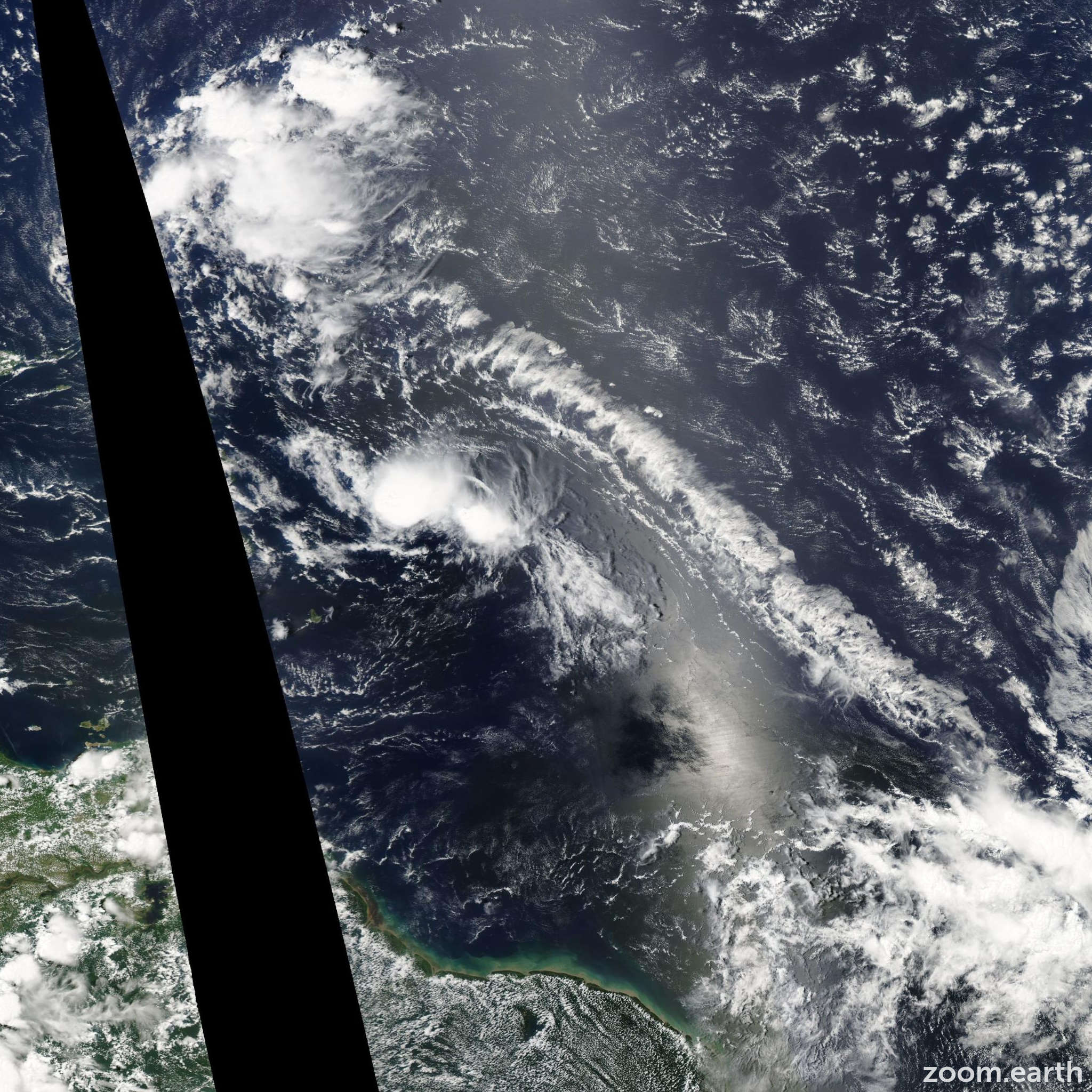 Satellite image of Storm Ana 2009