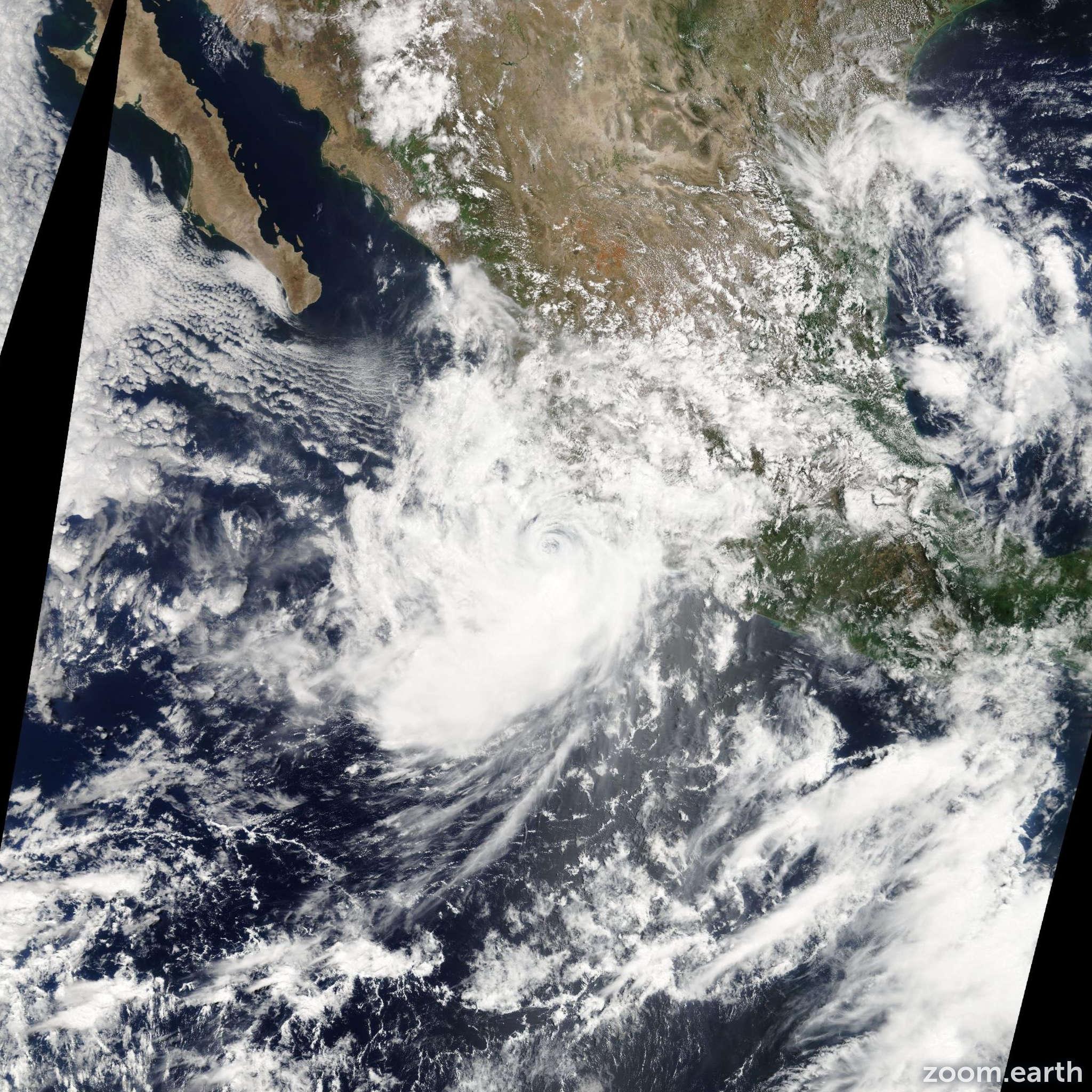 Satellite image of Hurricane Andres 2009