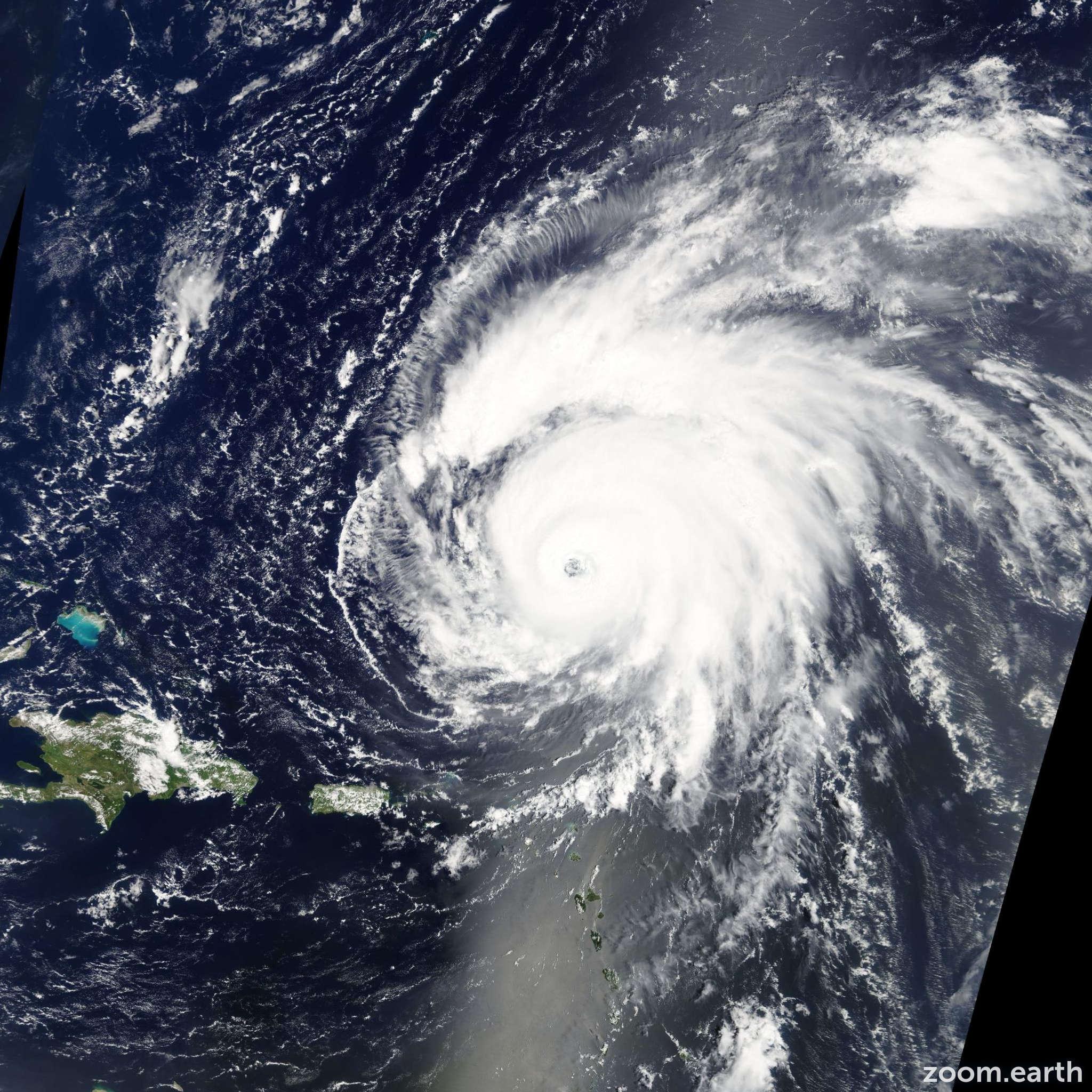 Satellite image of Hurricane Bill 2009