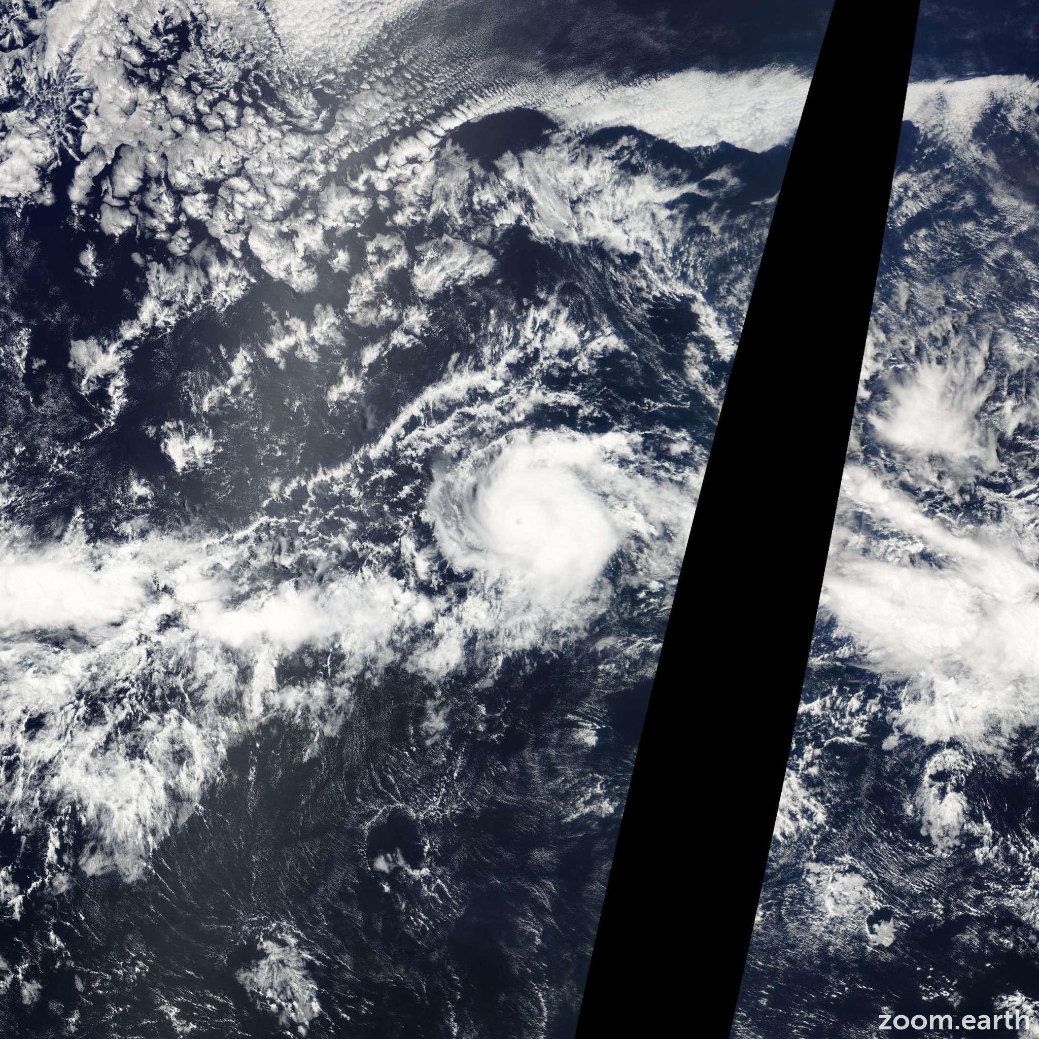 Satellite image of Hurricane Carlos 2009