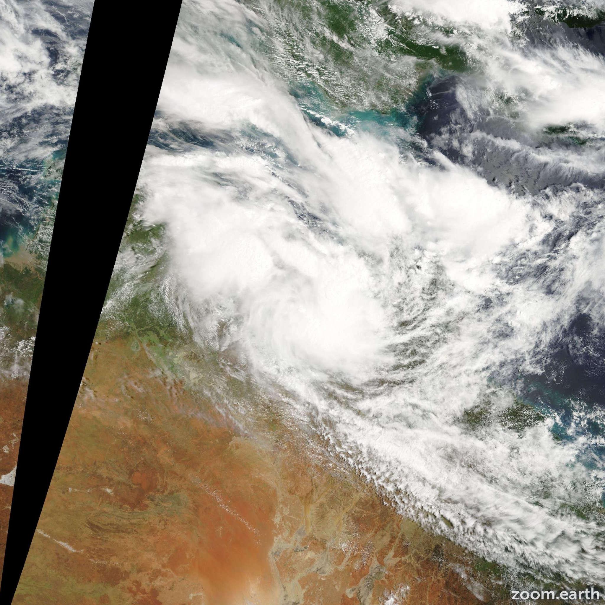 Satellite image of Cyclone Charlotte 2009