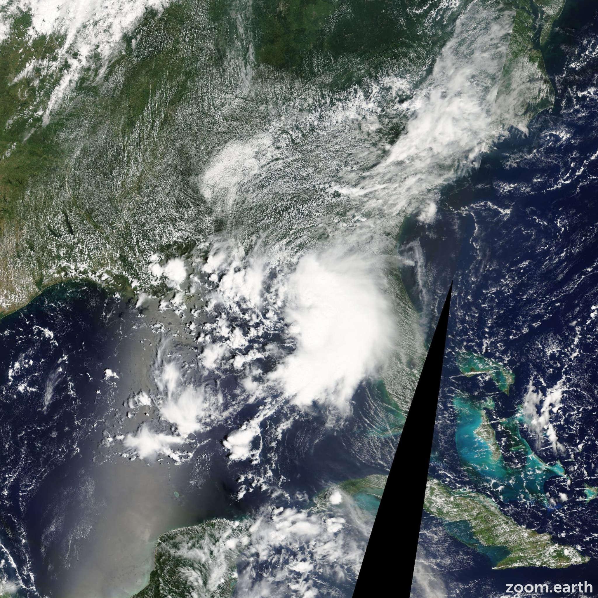 Satellite image of Storm Claudette 2009