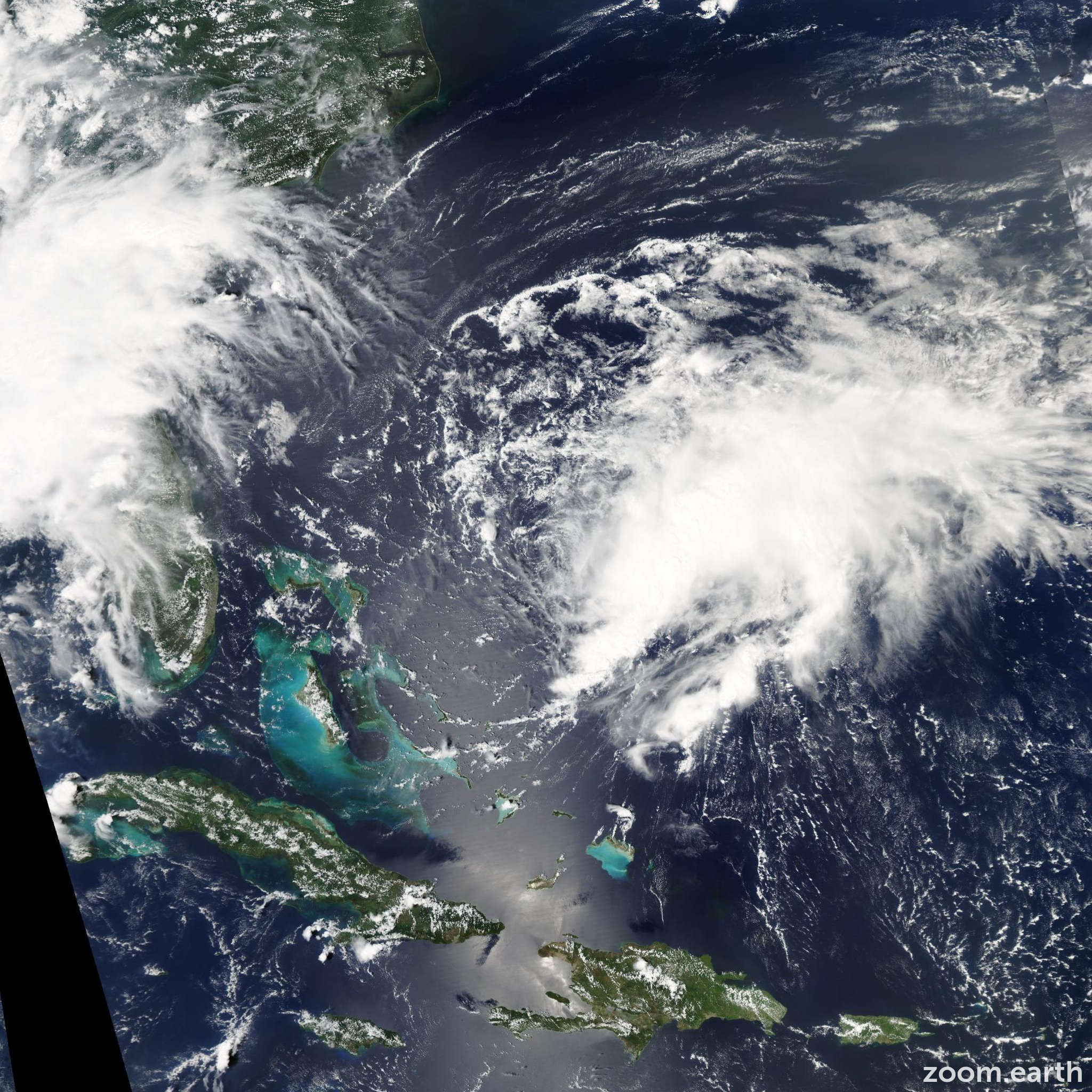 Satellite image of Storm Danny 2009