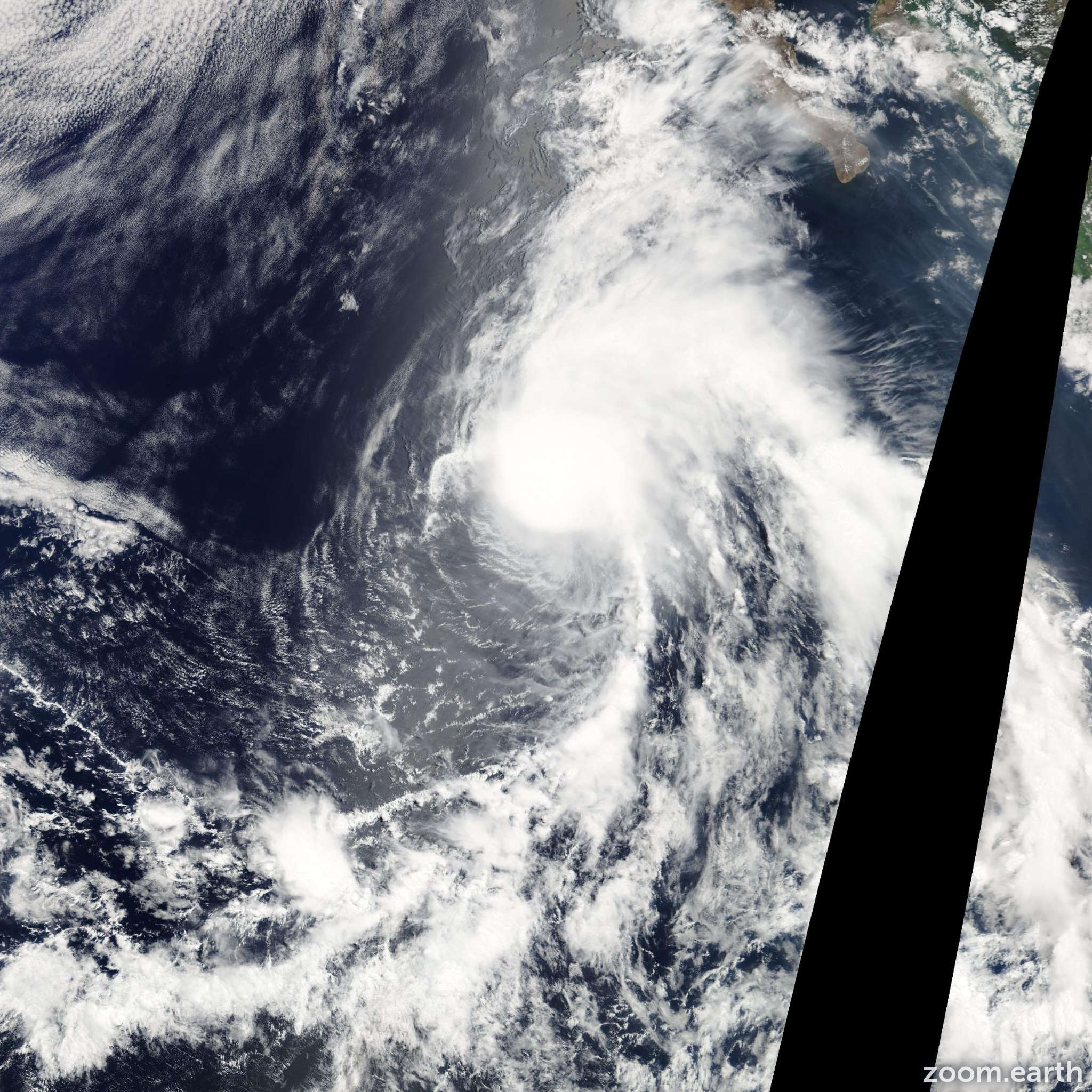 Satellite image of Storm Dolores 2009