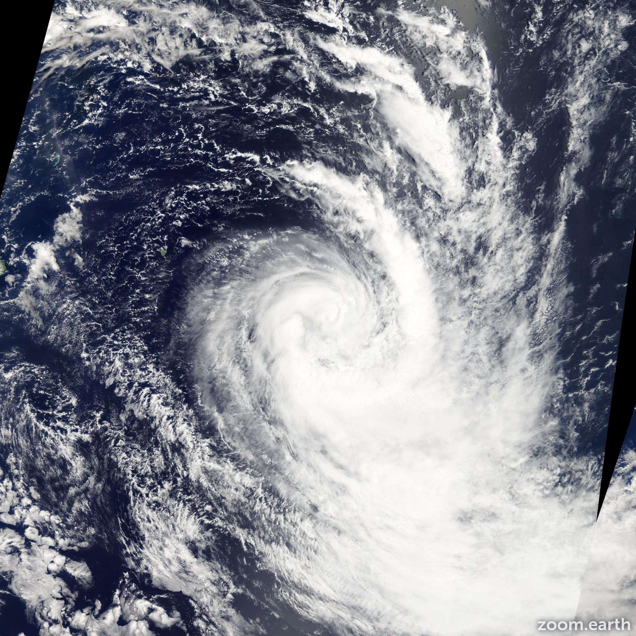 Satellite image of Storm Dongo 2009