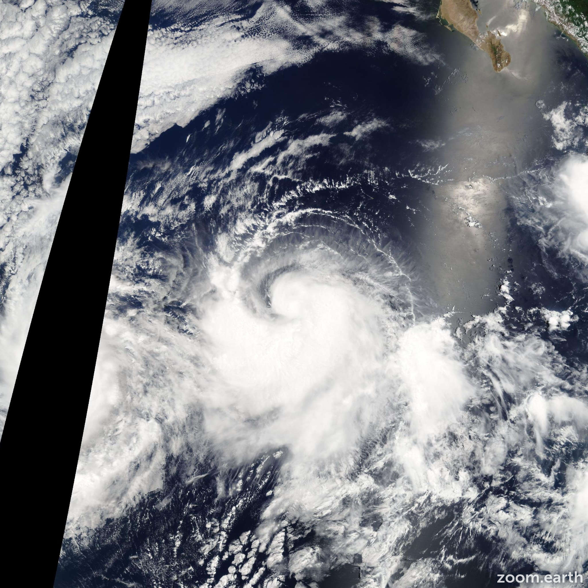 Satellite image of Storm Enrique 2009