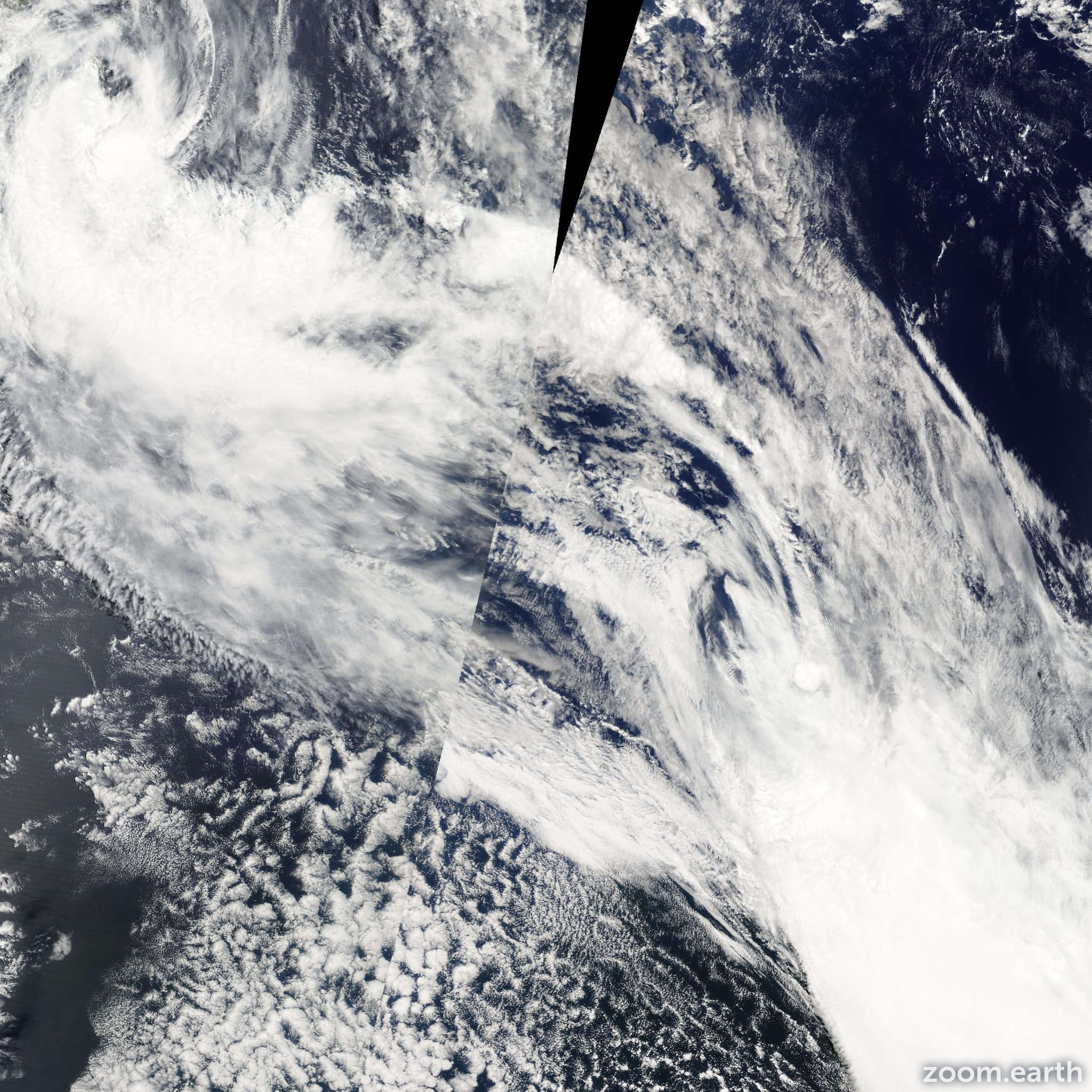Satellite image of Storm Eric 2009