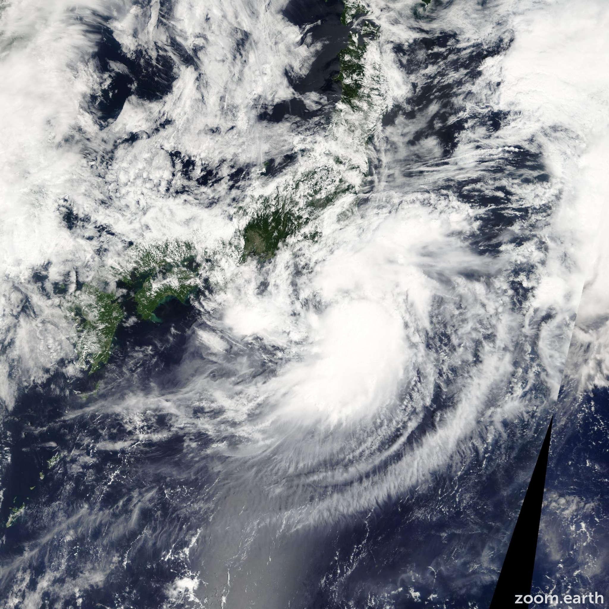 Satellite image of Storm Etau 2009