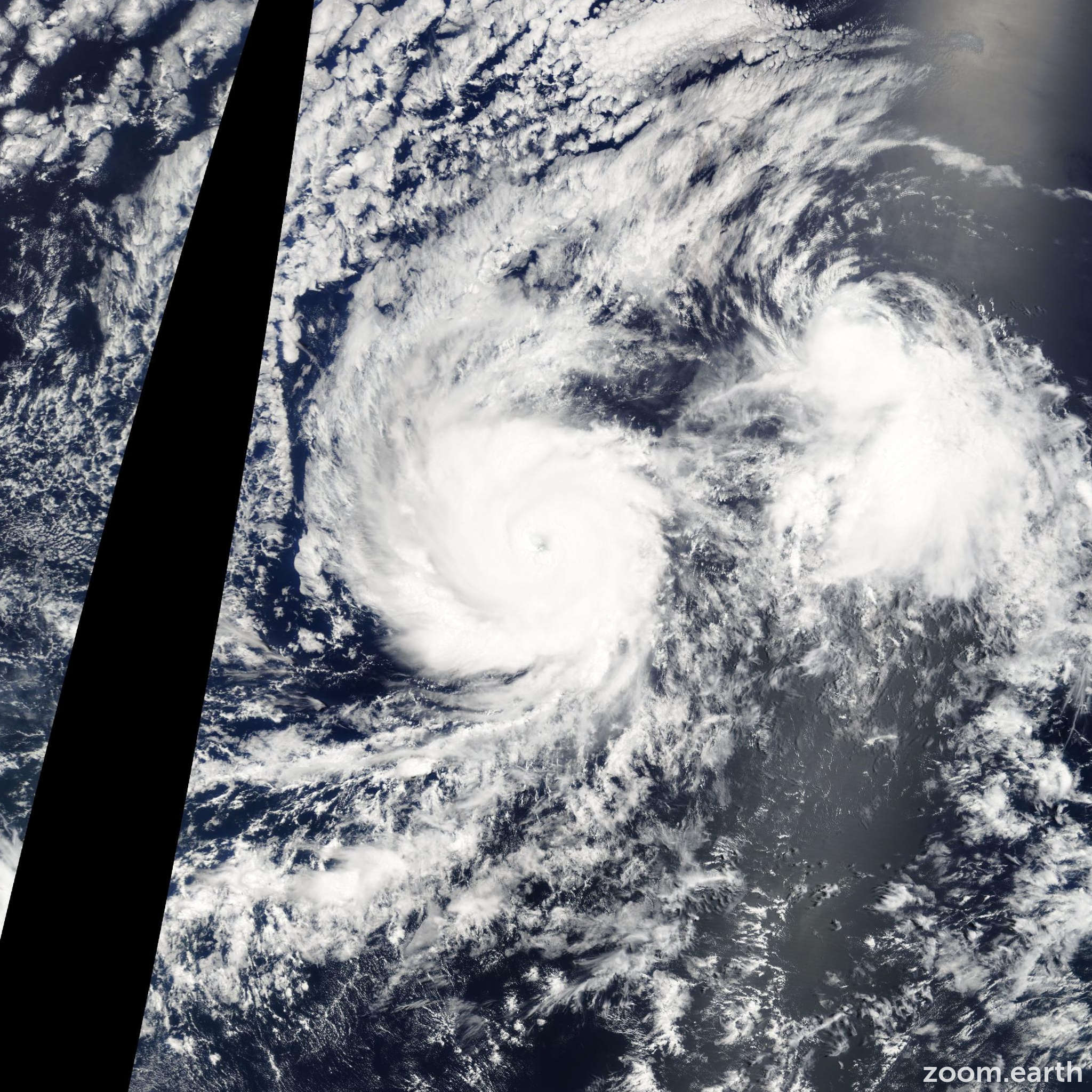 Satellite image of Hurricane Felicia 2009