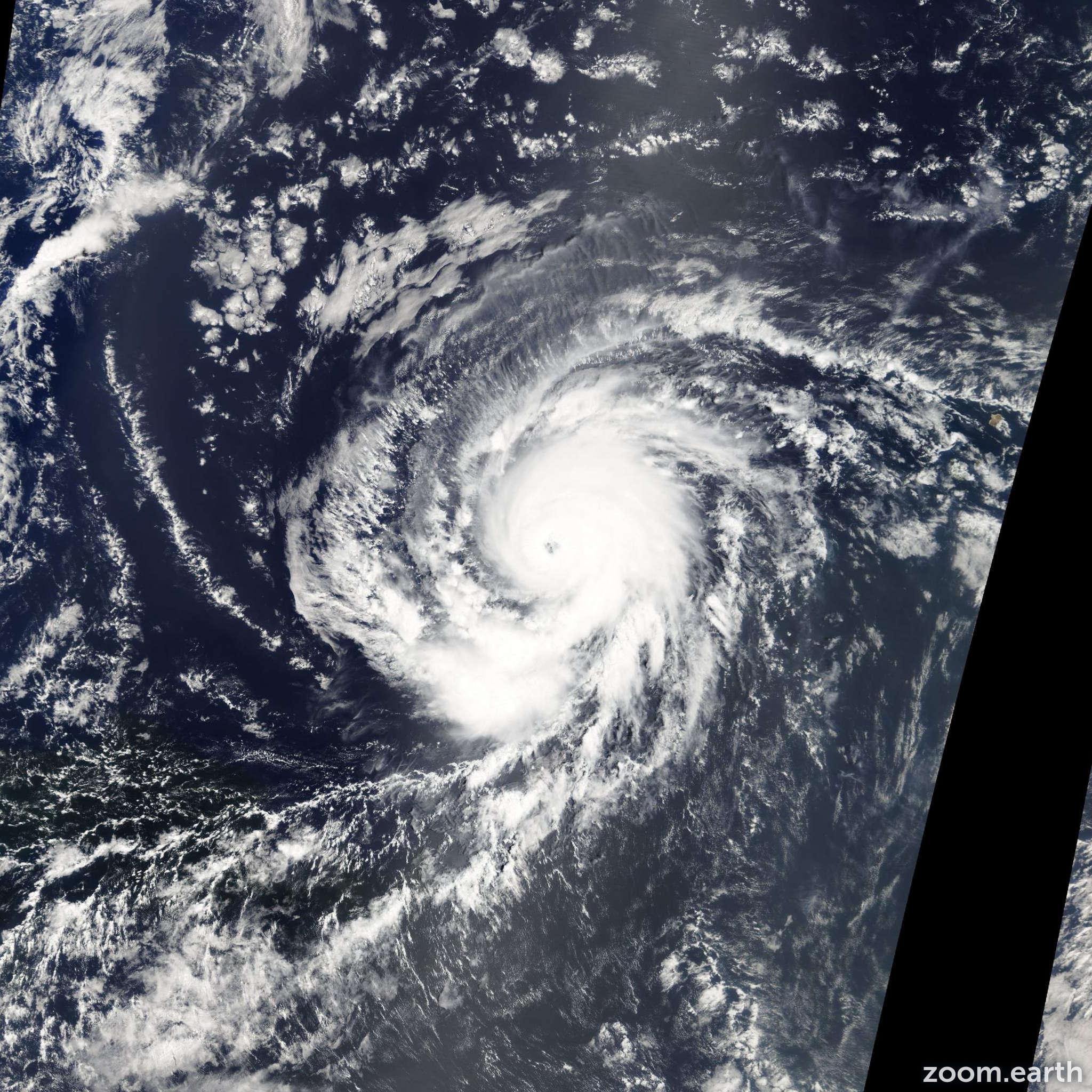 Satellite image of Hurricane Fred 2009
