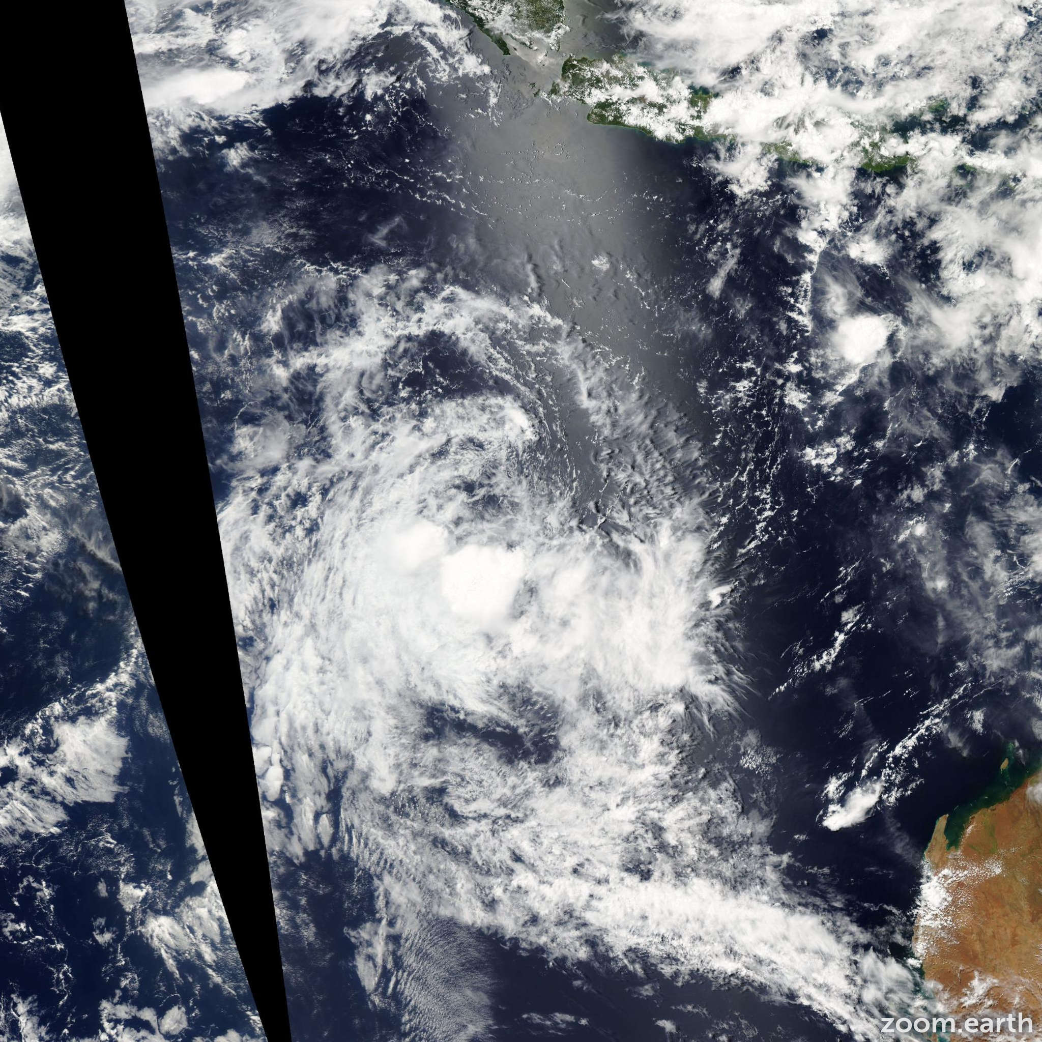 Satellite image of Cyclone Gabrielle 2009