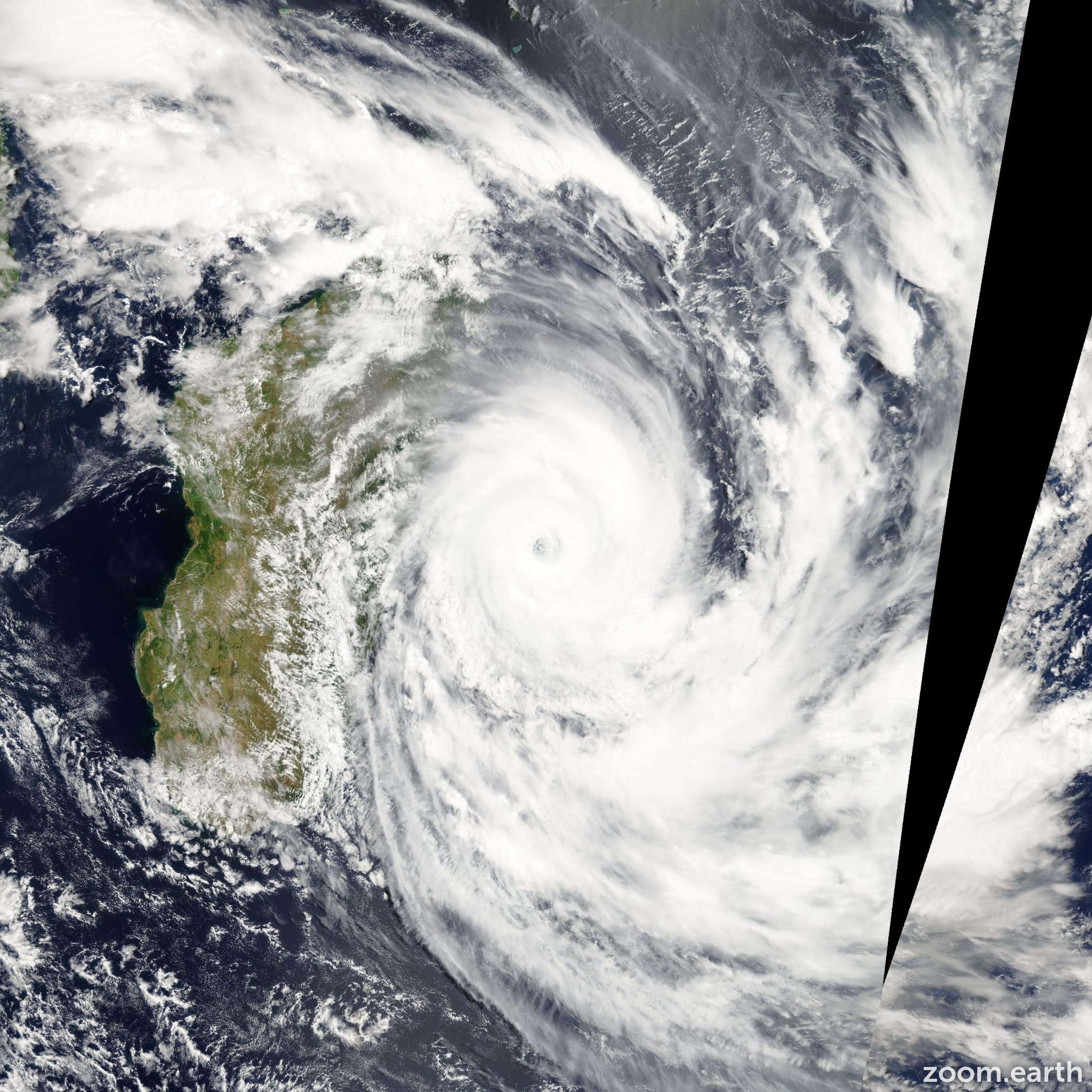 Satellite image of Cyclone Gael 2009
