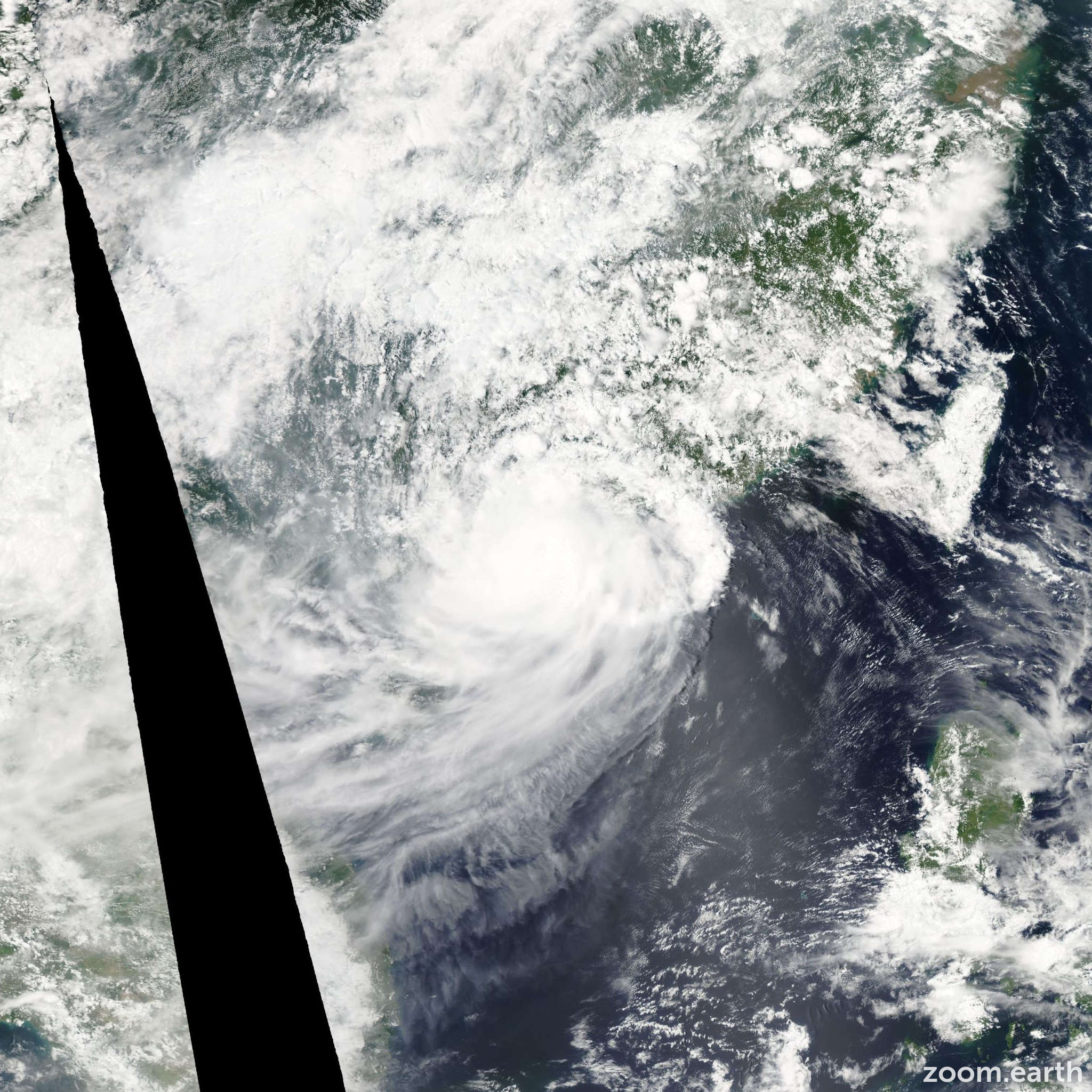 Satellite image of Storm Goni 2009