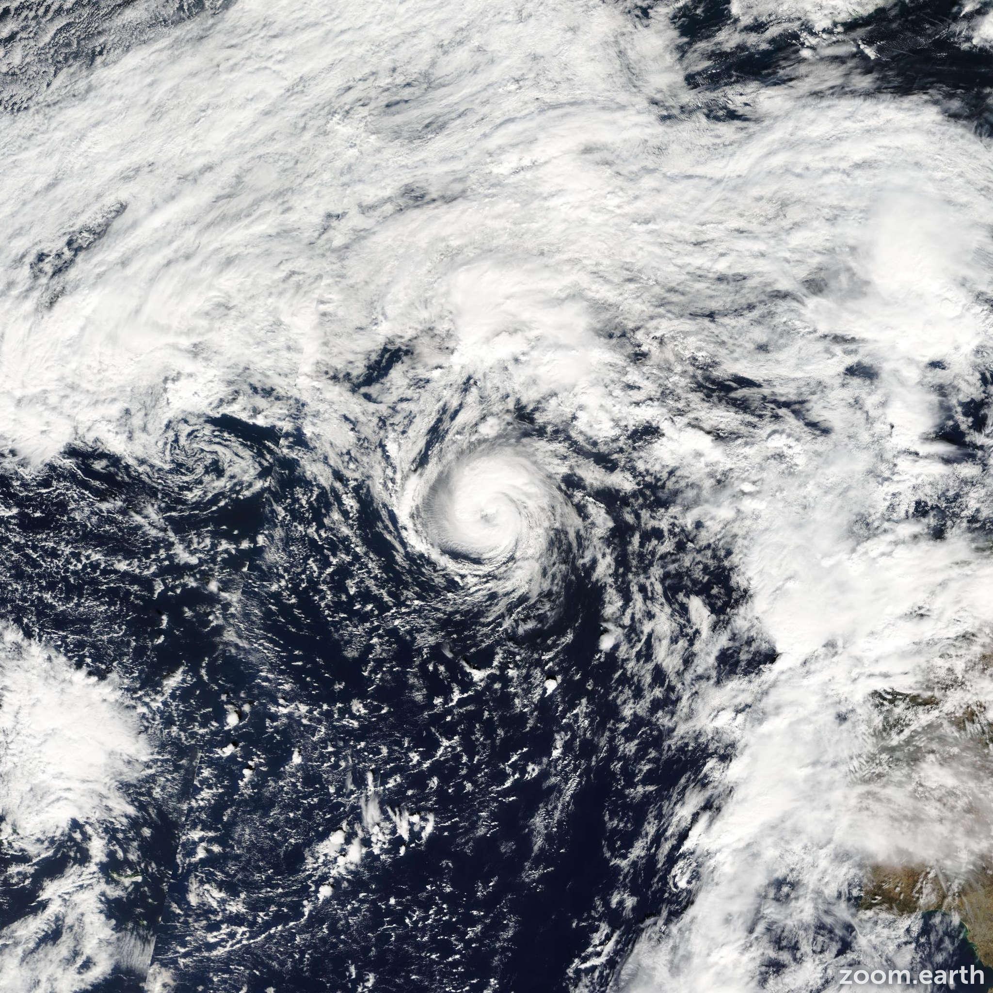 Satellite image of Storm Grace 2009