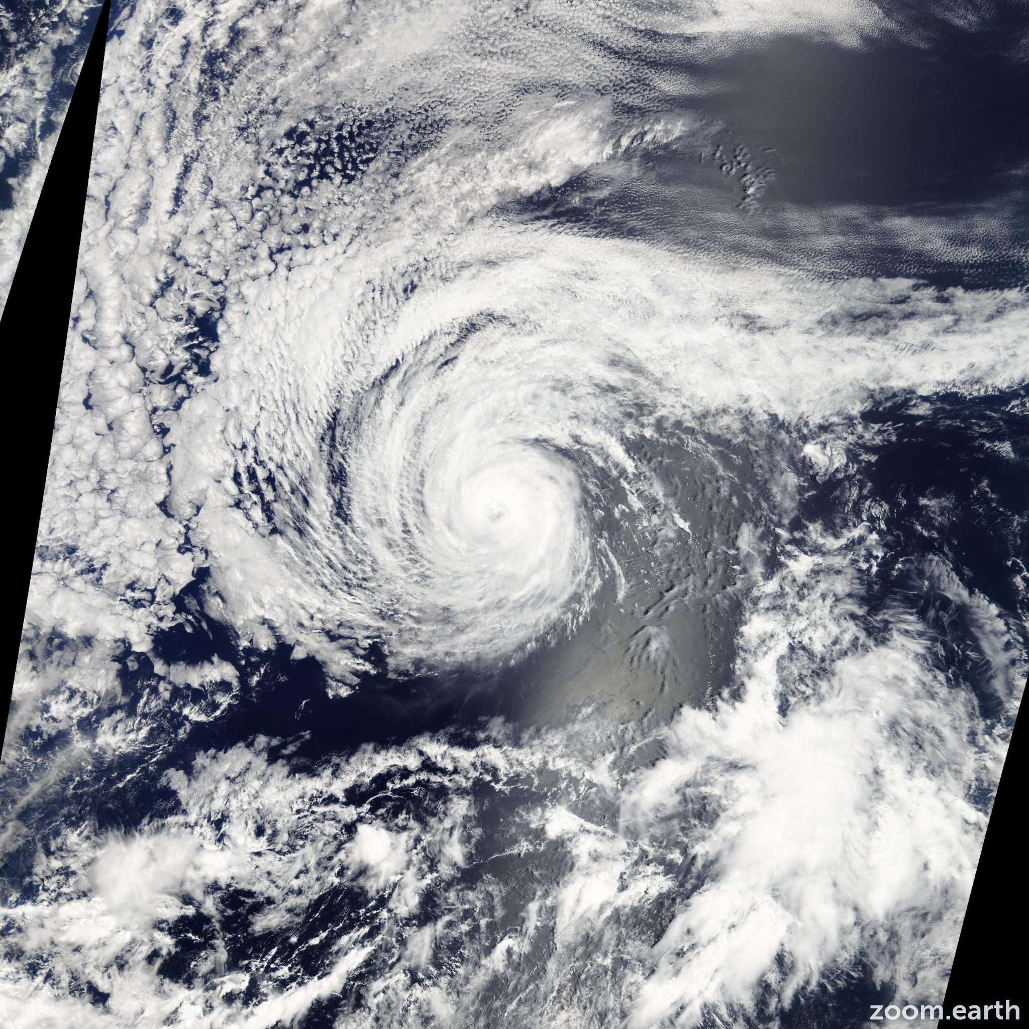 Satellite image of Hurricane Guillermo 2009