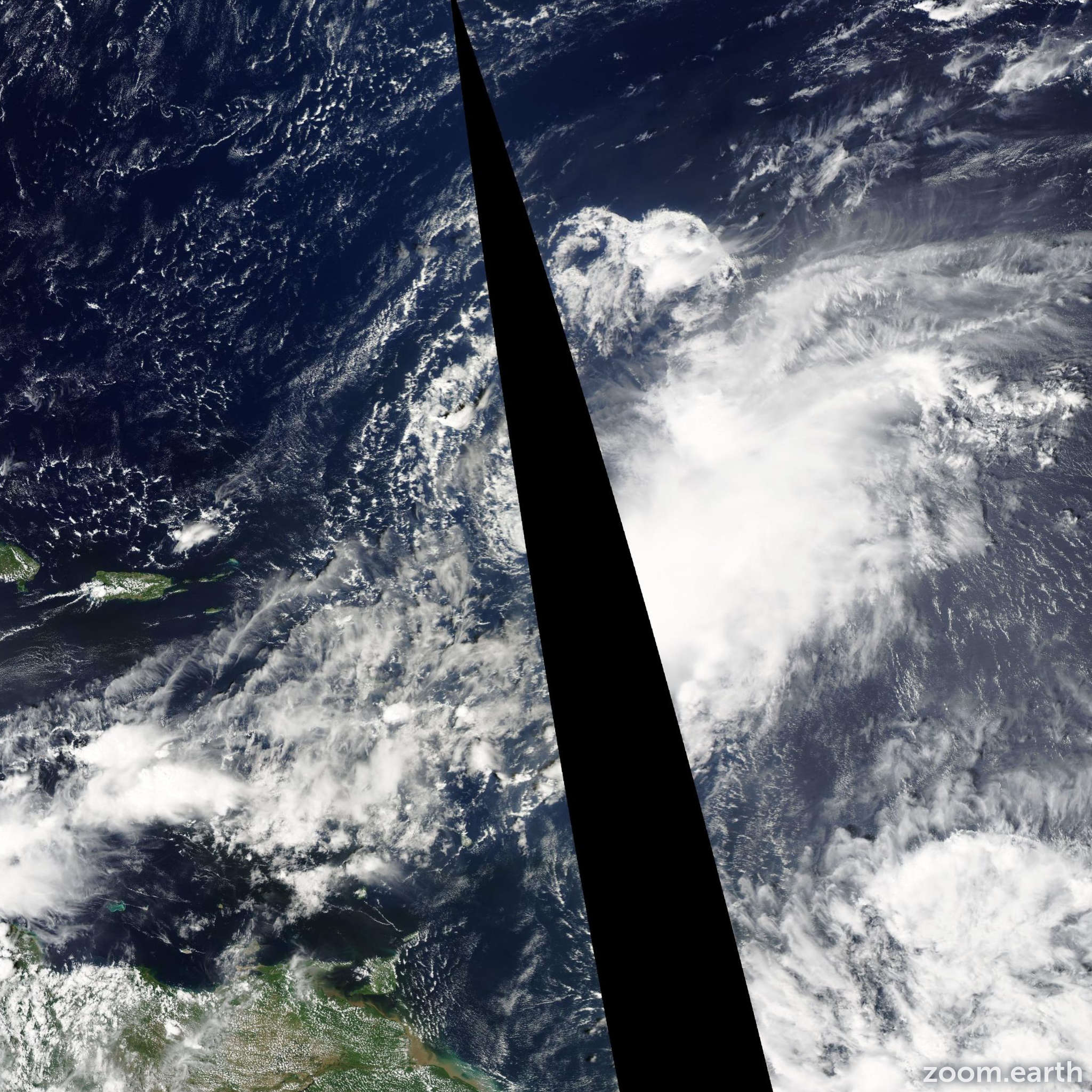 Satellite image of Storm Henri 2009