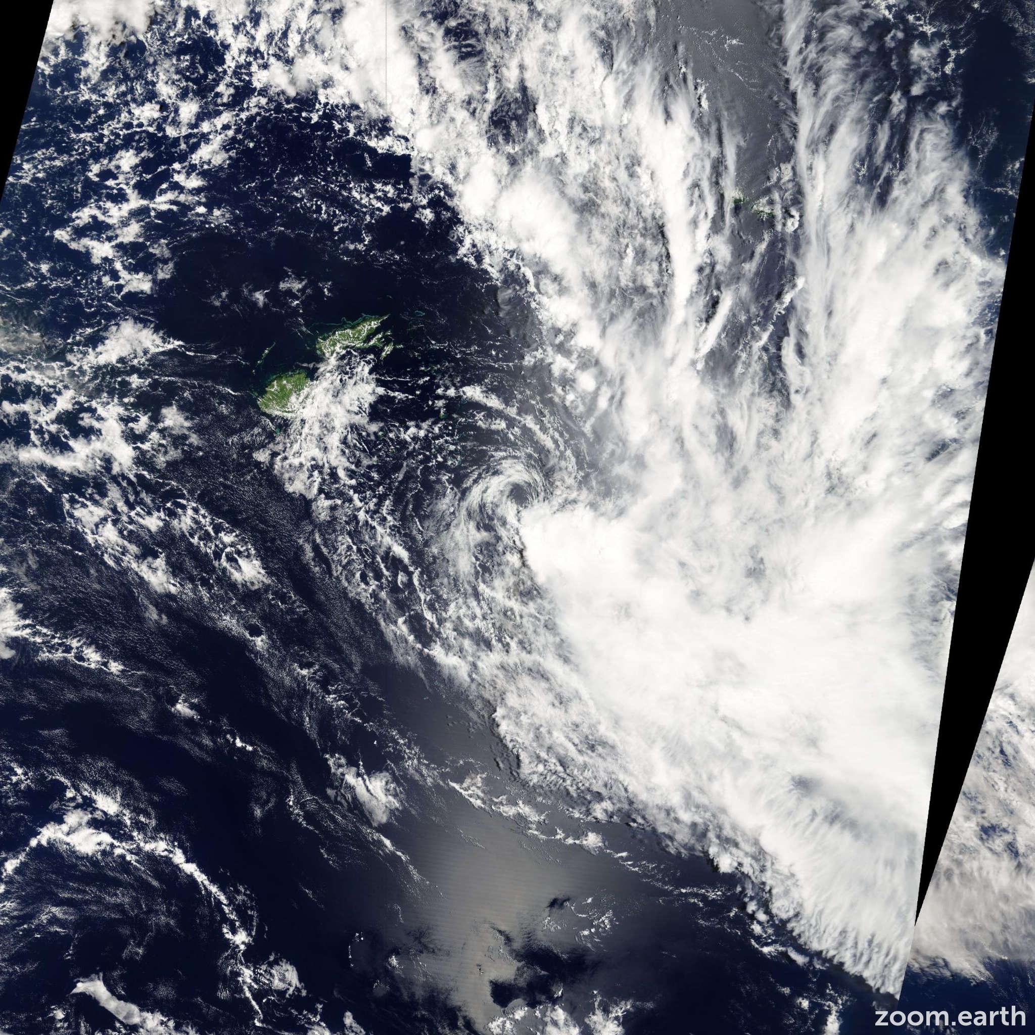 Satellite image of Cyclone Hettie 2009