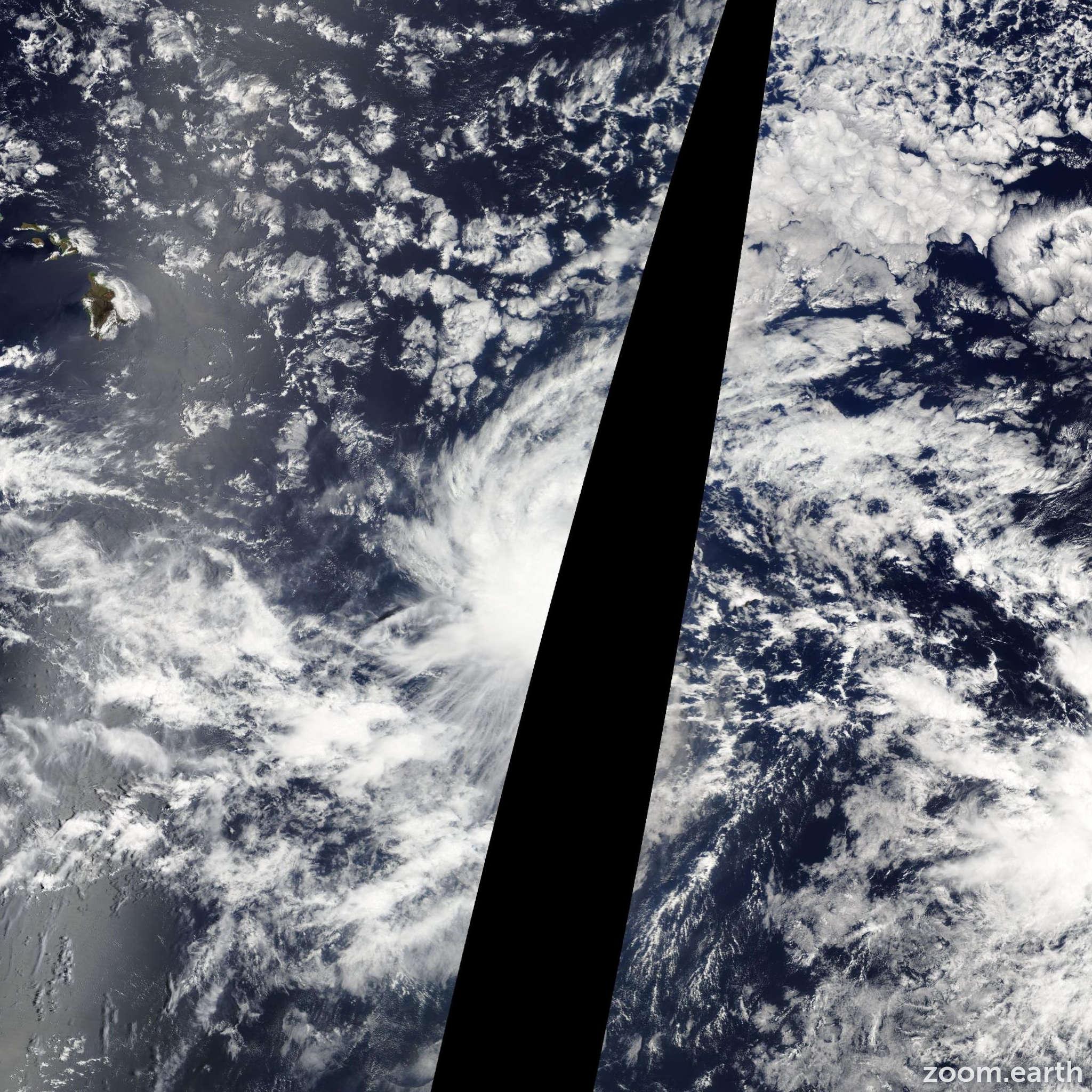 Satellite image of Storm Hilda 2009