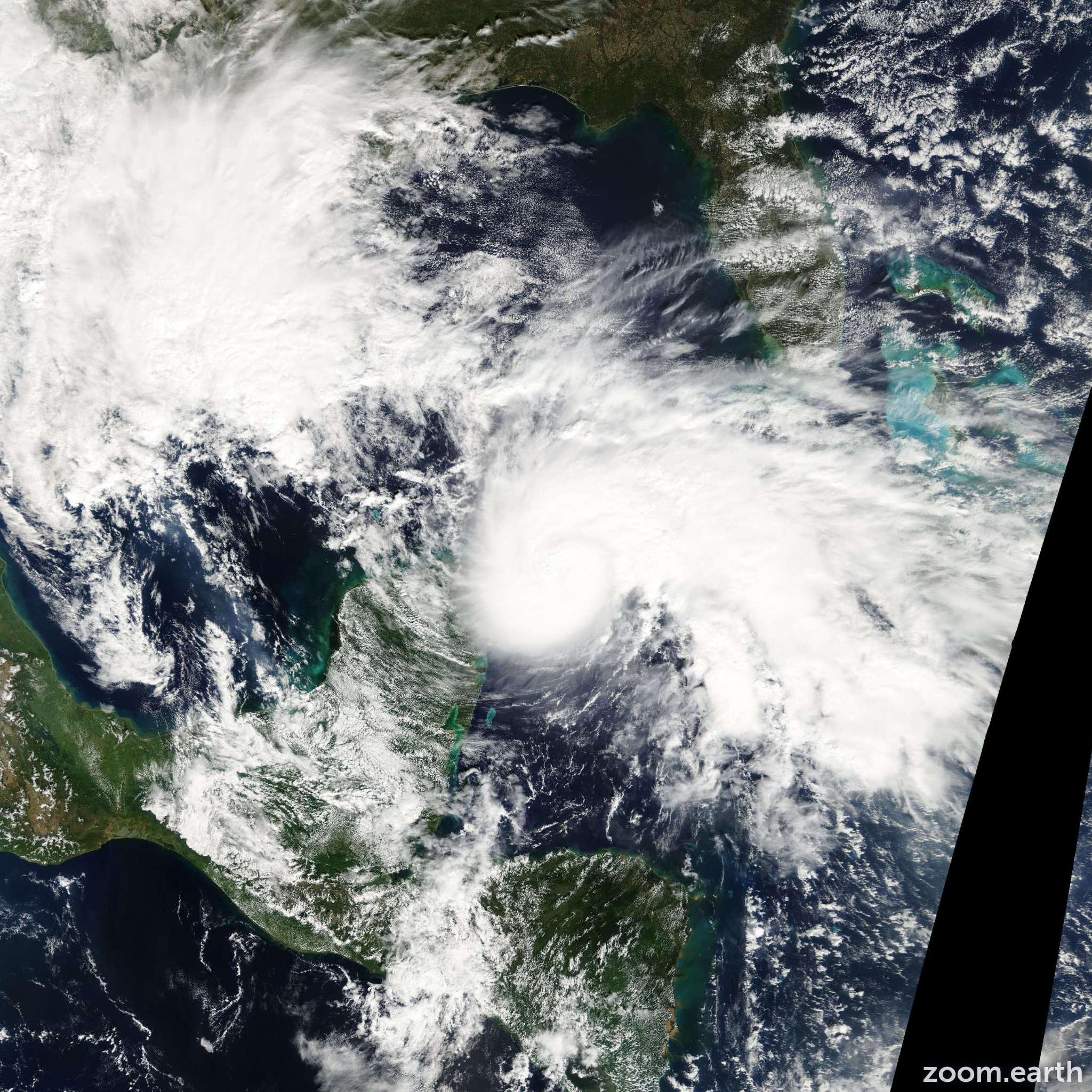 Satellite image of Hurricane Ida 2009