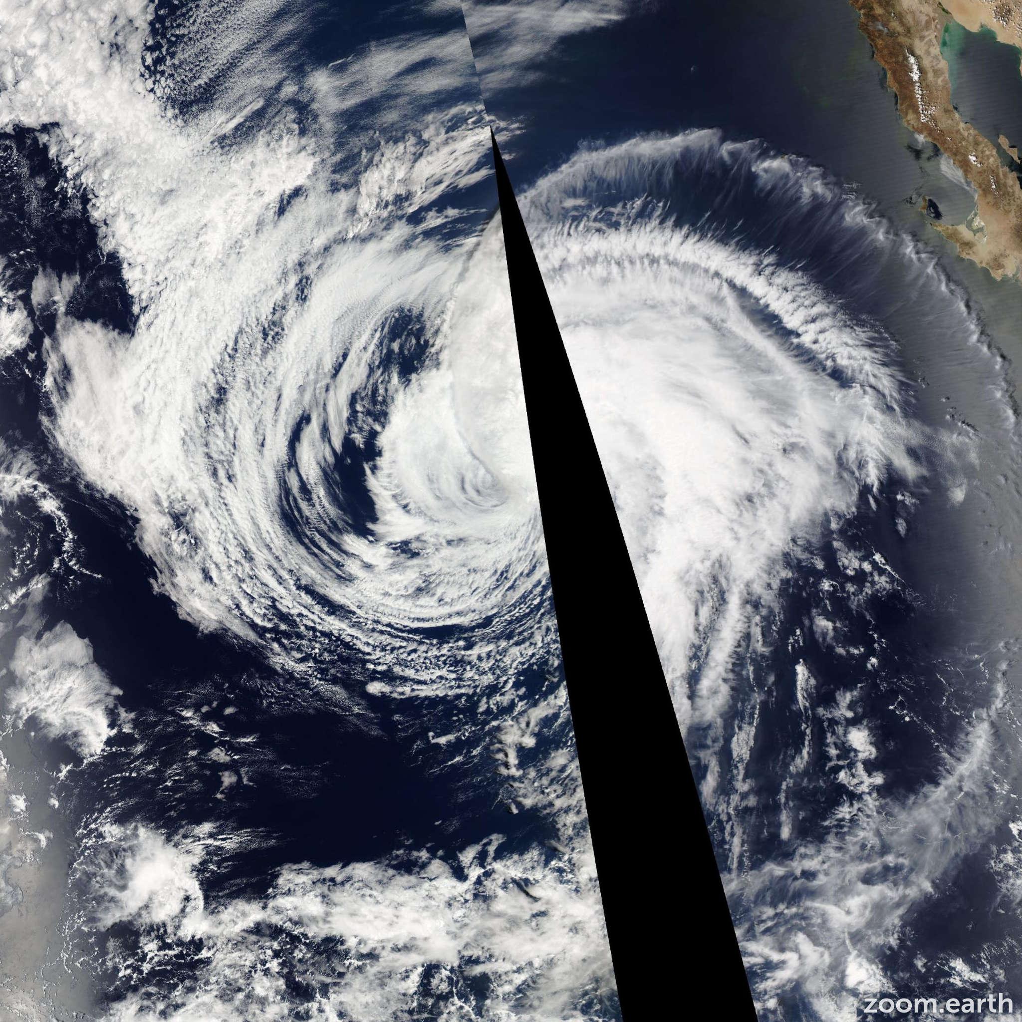 Satellite image of Storm Ignacio 2009