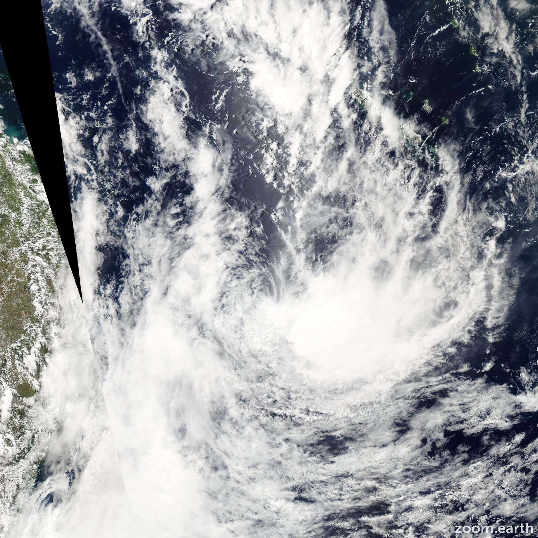 Satellite image of Cyclone Innis 2009