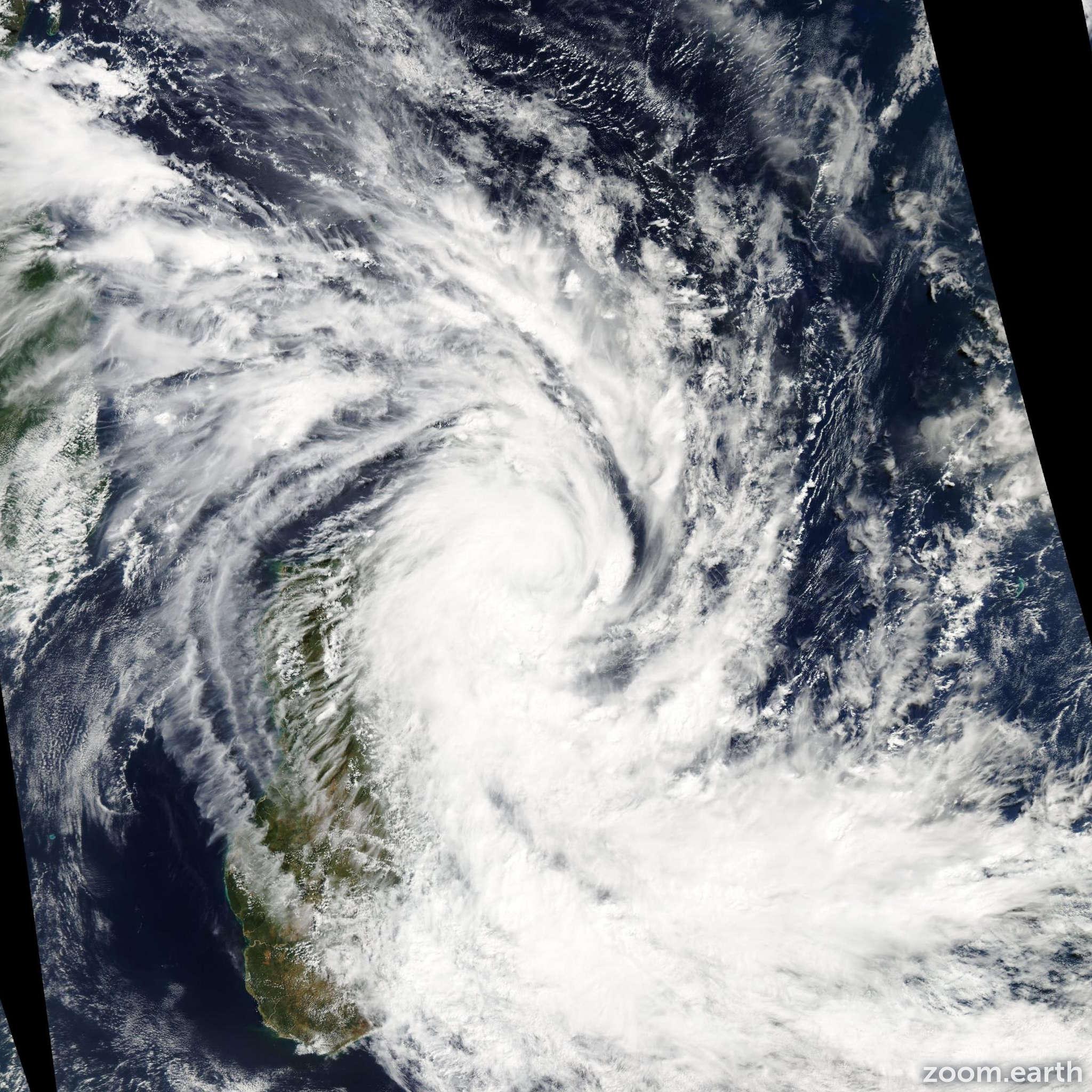 Satellite image of Storm Jade 2009