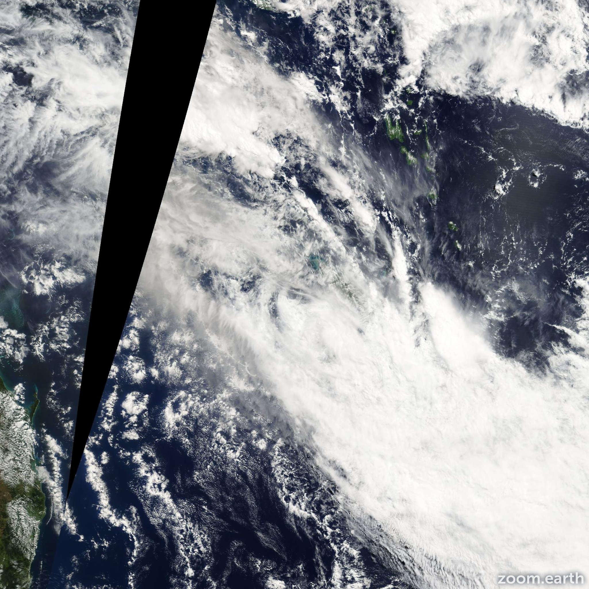 Satellite image of Cyclone Jasper 2009