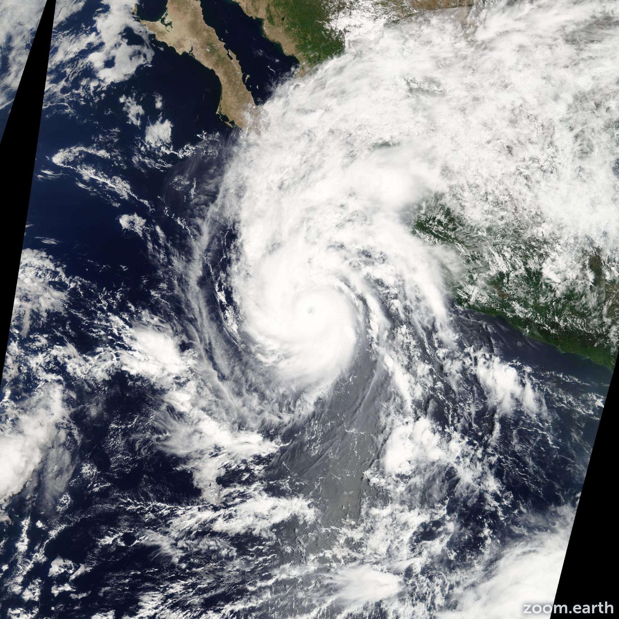 Satellite image of Hurricane Jimena 2009
