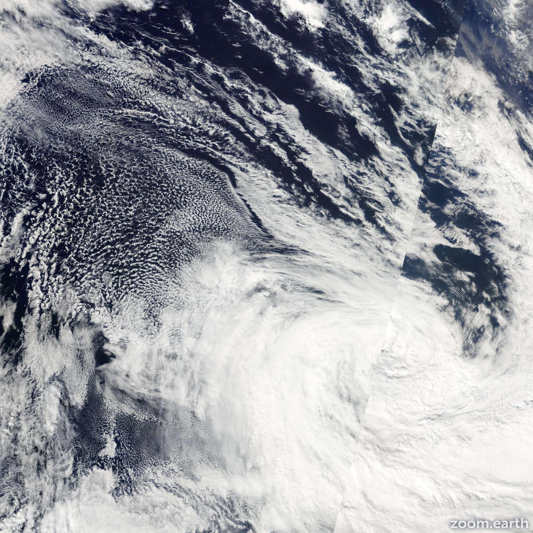 Satellite image of Cyclone Ken 2009