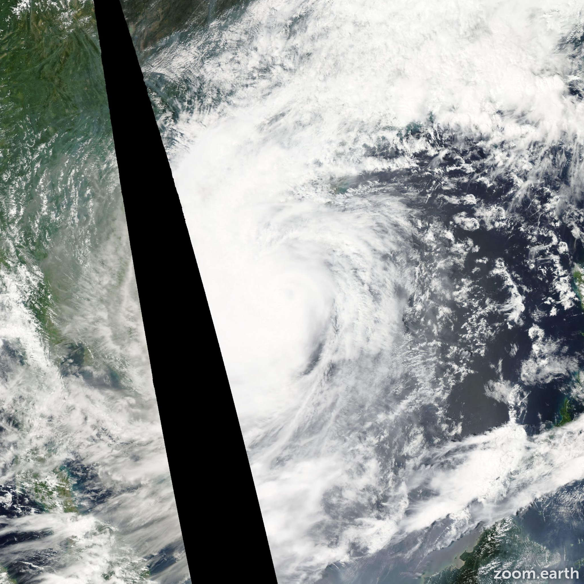 Satellite image of Typhoon Ketsana 2009