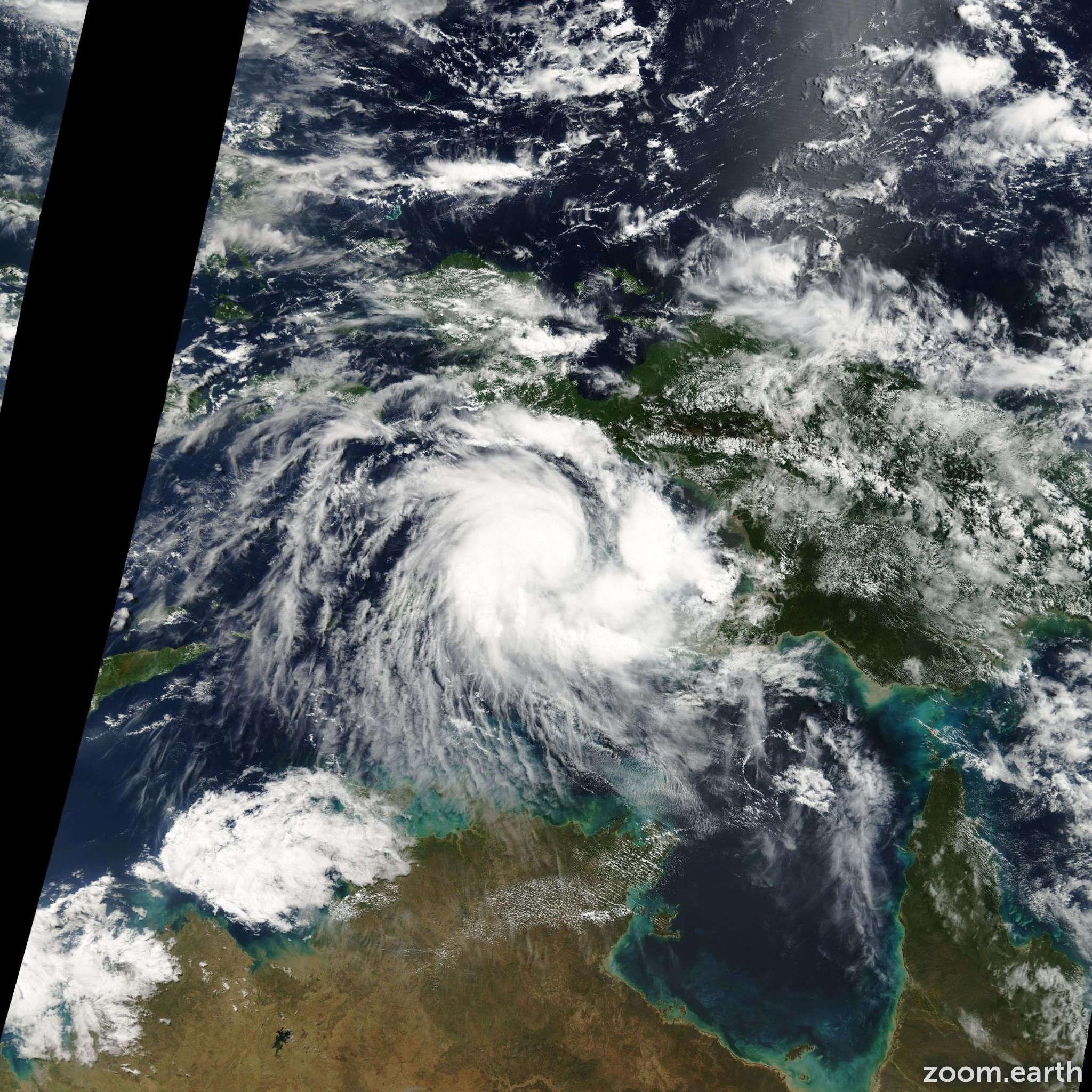 Satellite image of Cyclone Kirrily 2009