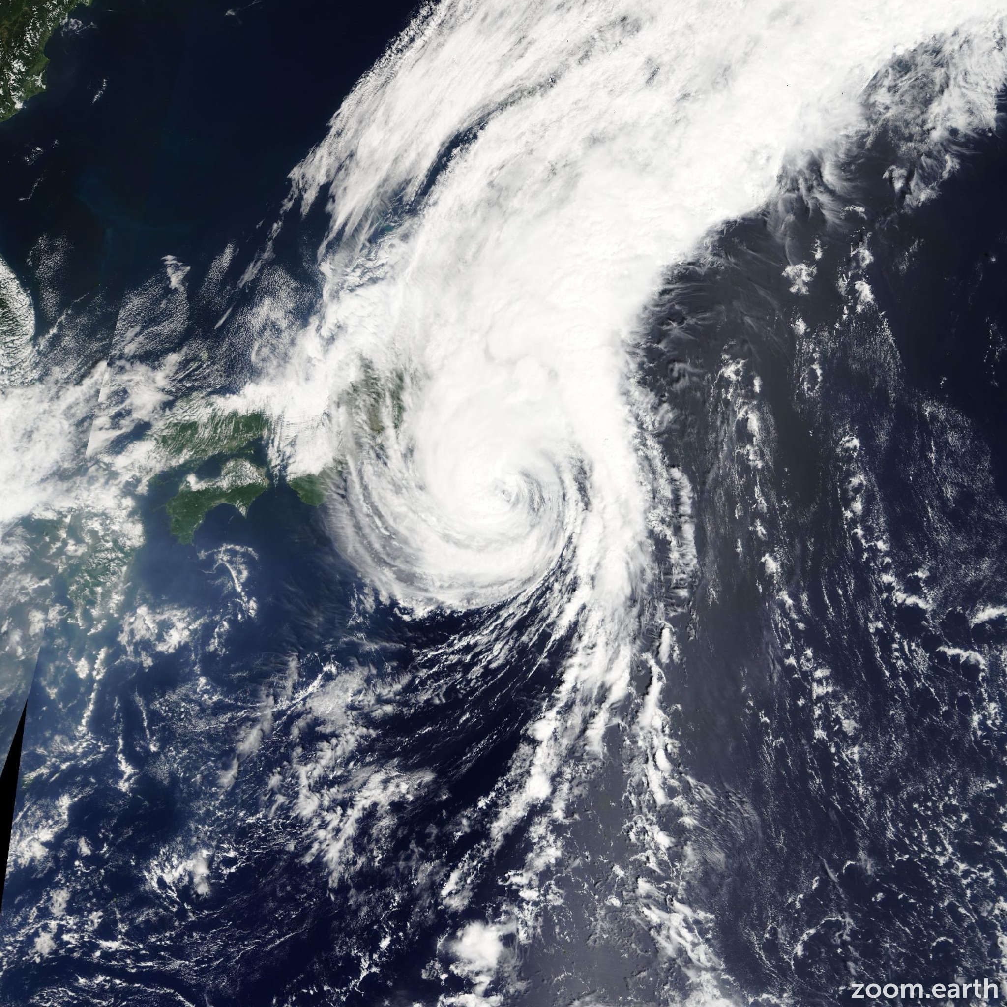 Satellite image of Storm Krovanh 2009