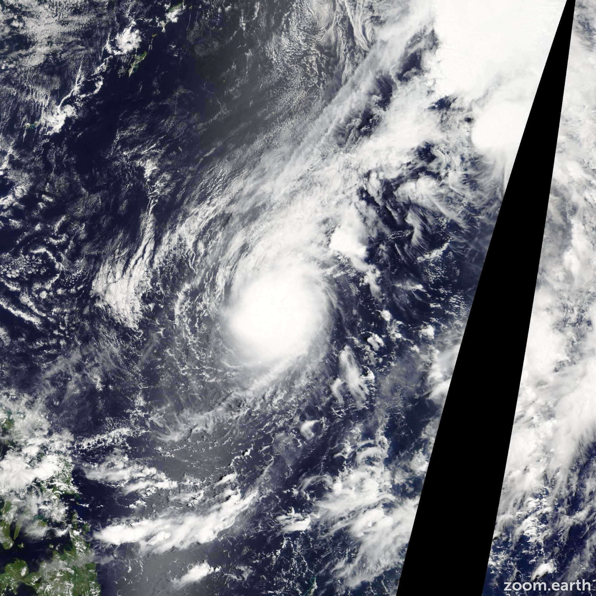 Satellite image of Typhoon Kujira 2009