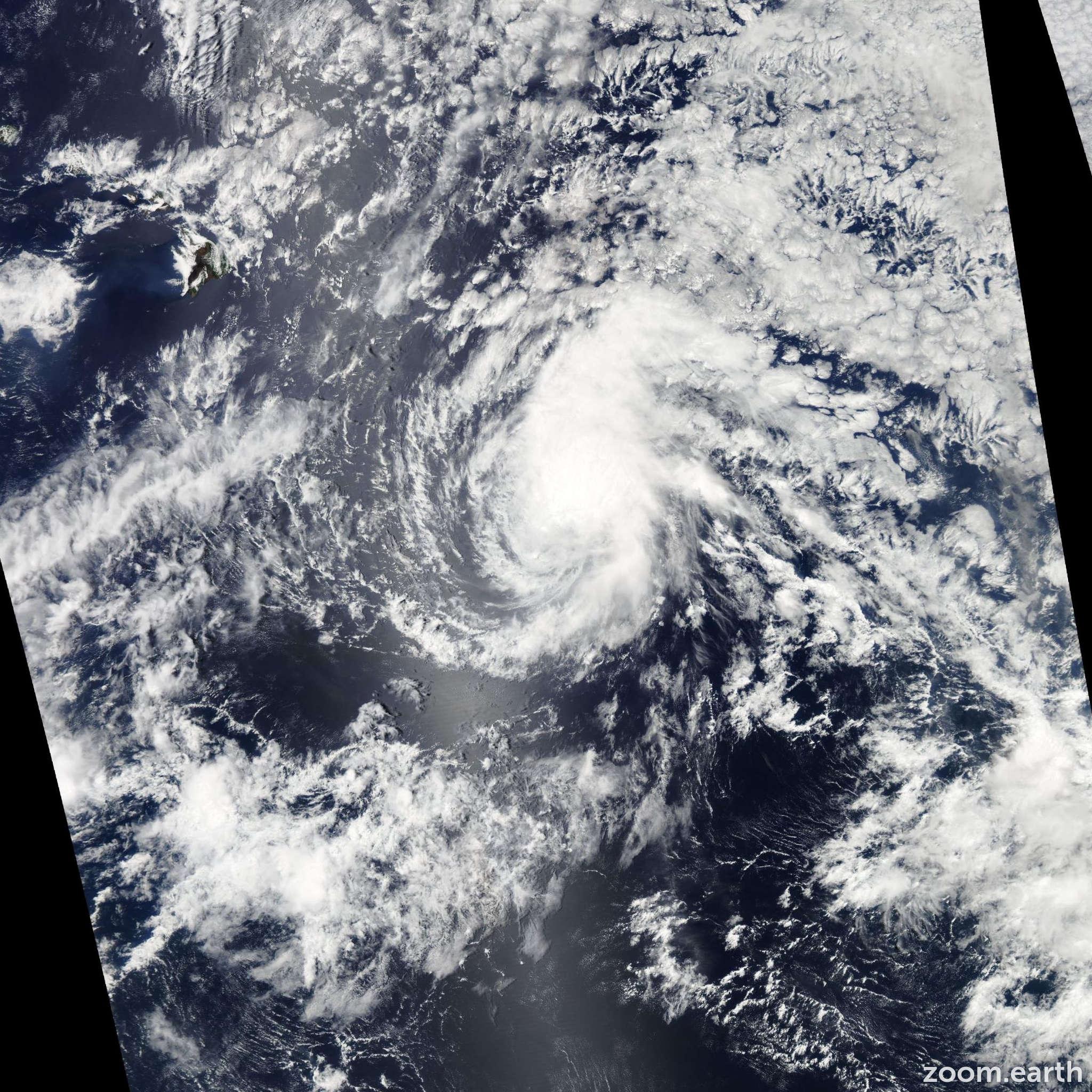 Satellite image of Storm Lana 2009