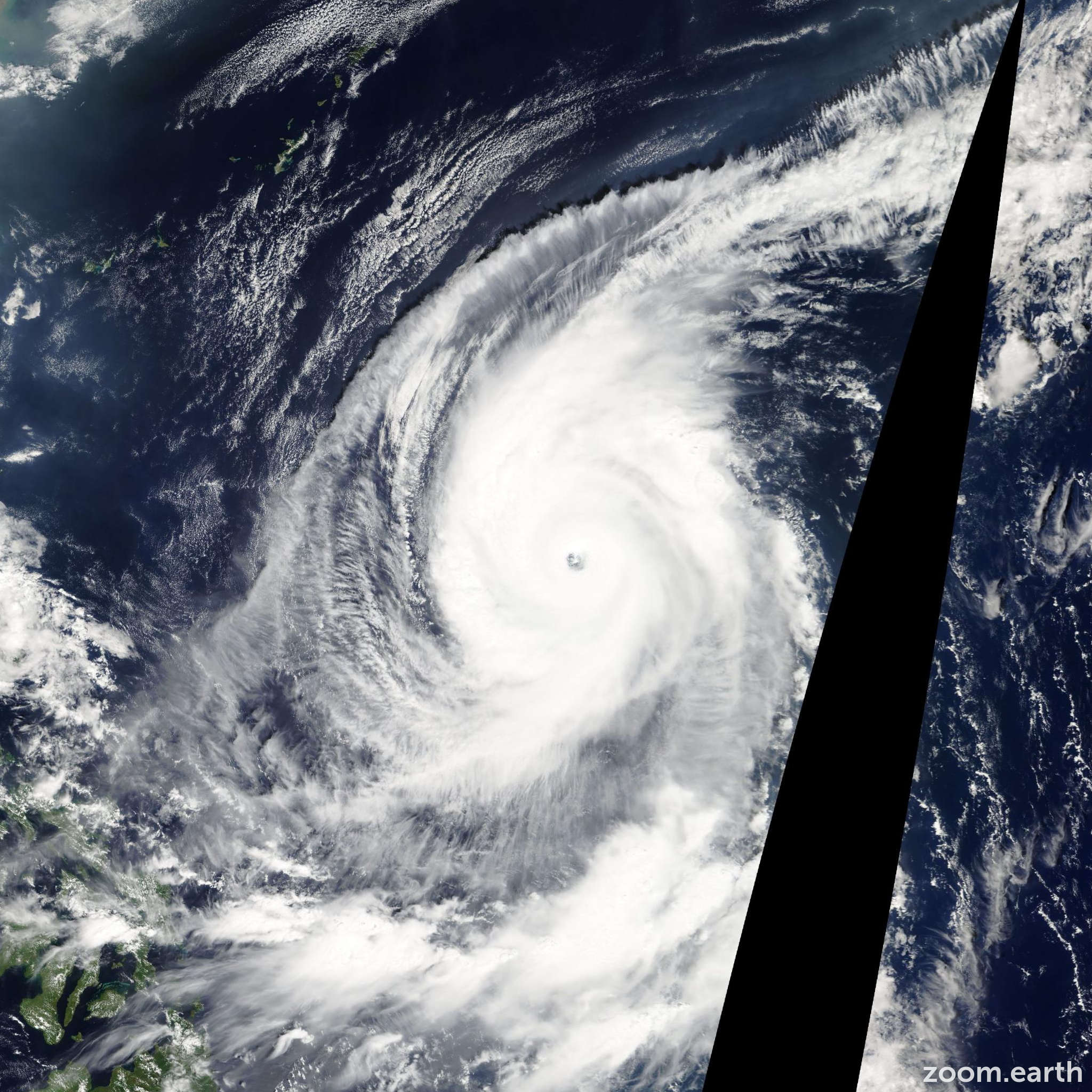 Satellite image of Typhoon Lupit 2009