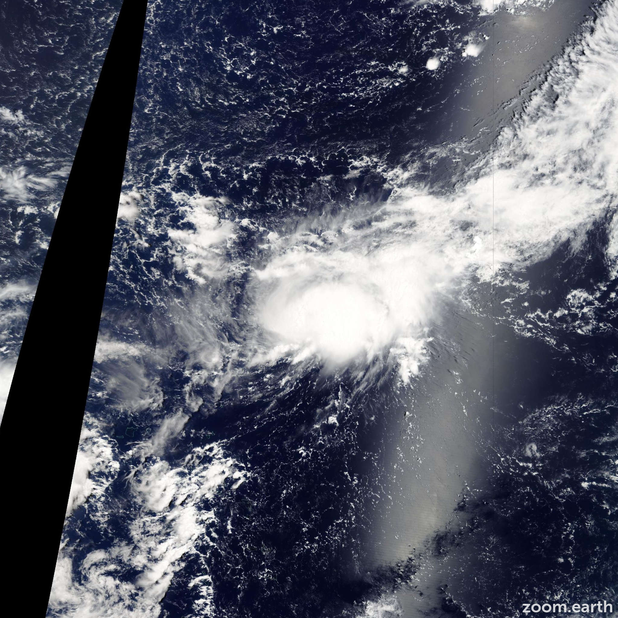 Satellite image of Storm Maka 2009