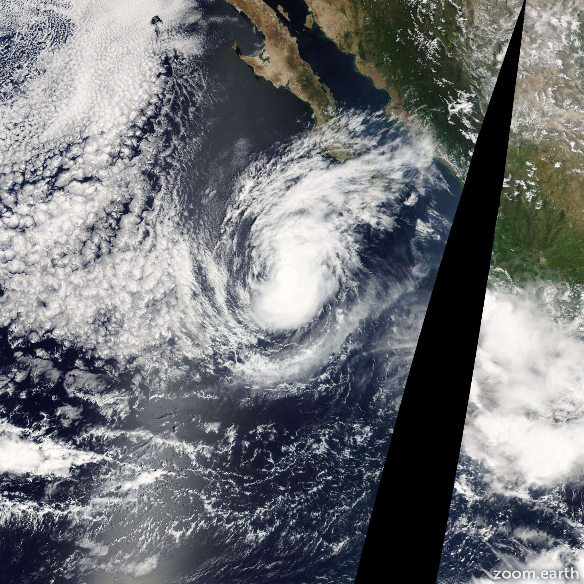 Satellite image of Storm Marty 2009
