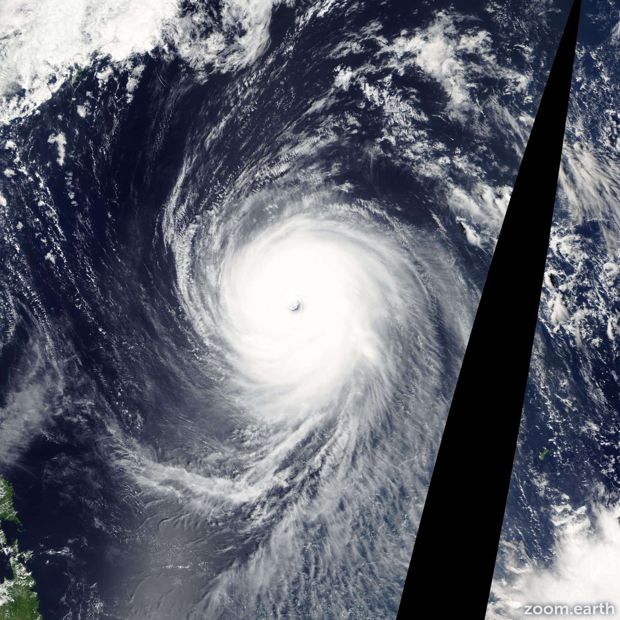 Satellite image of Typhoon Melor 2009
