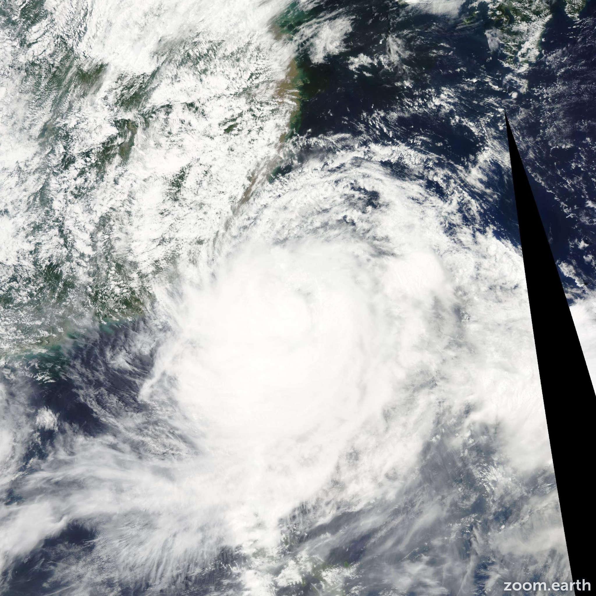 Satellite image of Typhoon Morakot 2009
