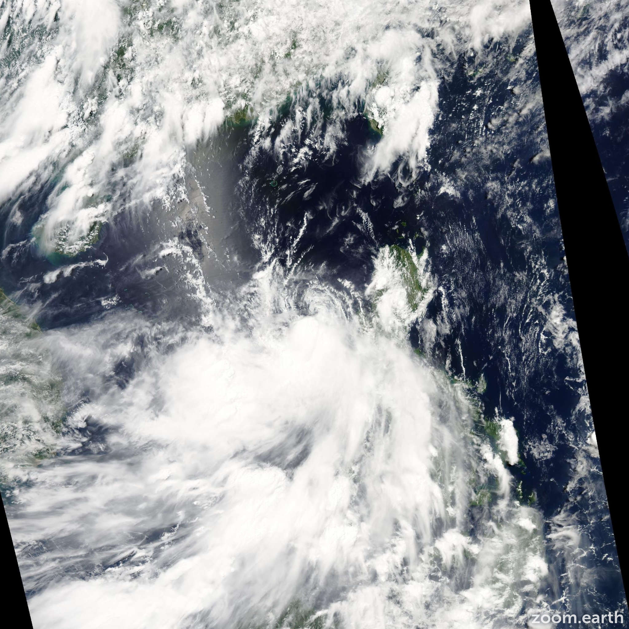 Satellite image of Storm Nangka 2009