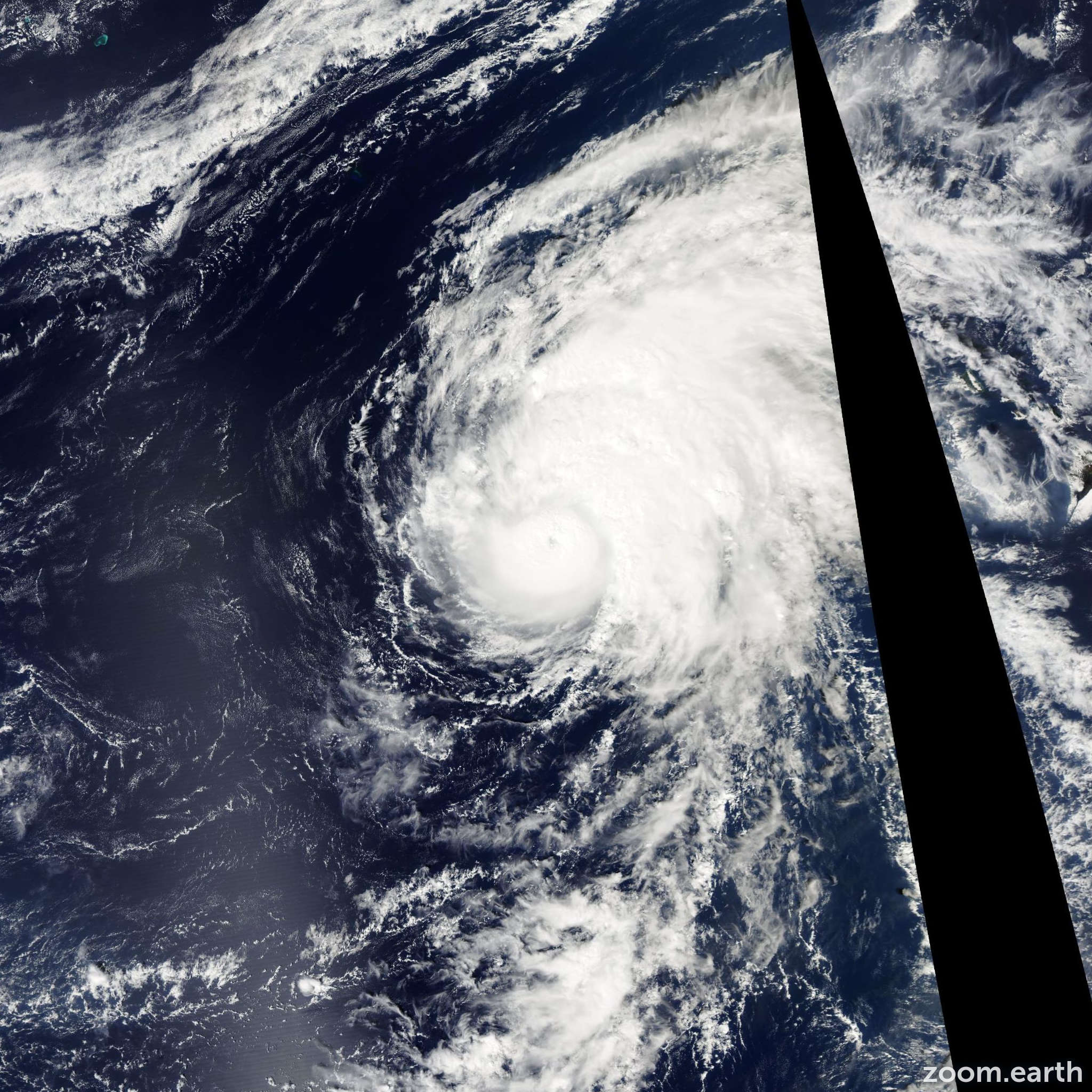 Satellite image of Hurricane Neki 2009