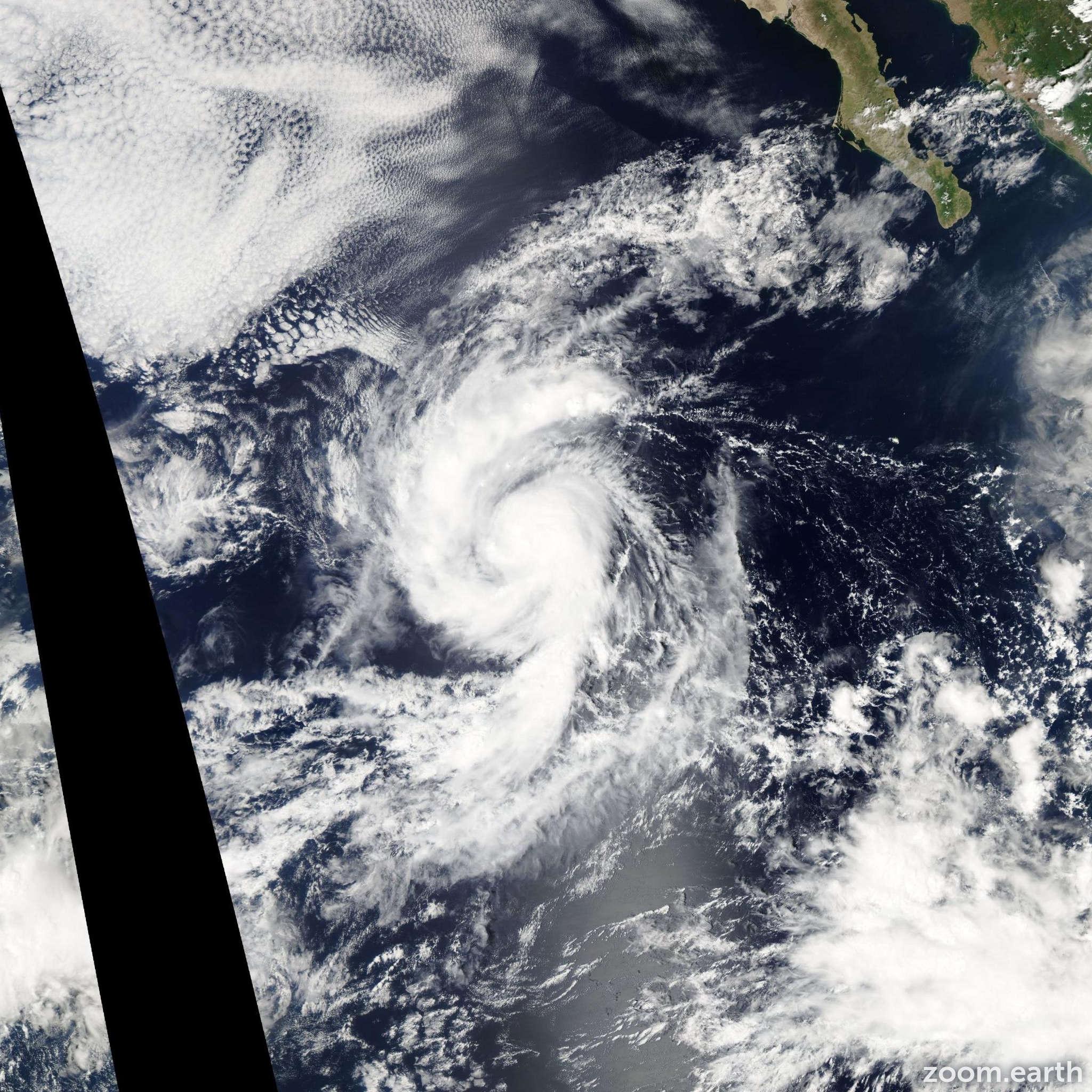 Satellite image of Storm Nora 2009