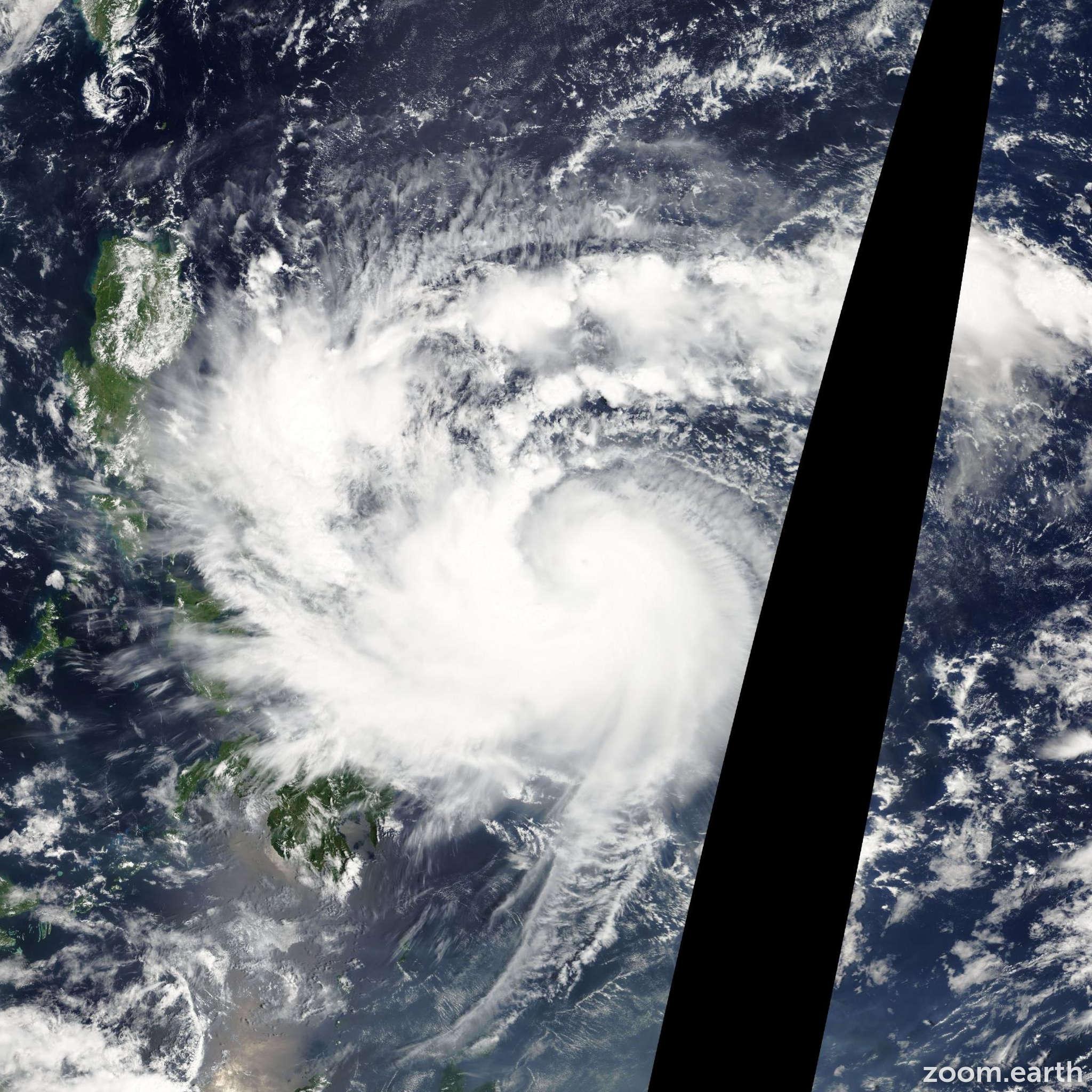 Satellite image of Typhoon Parma 2009