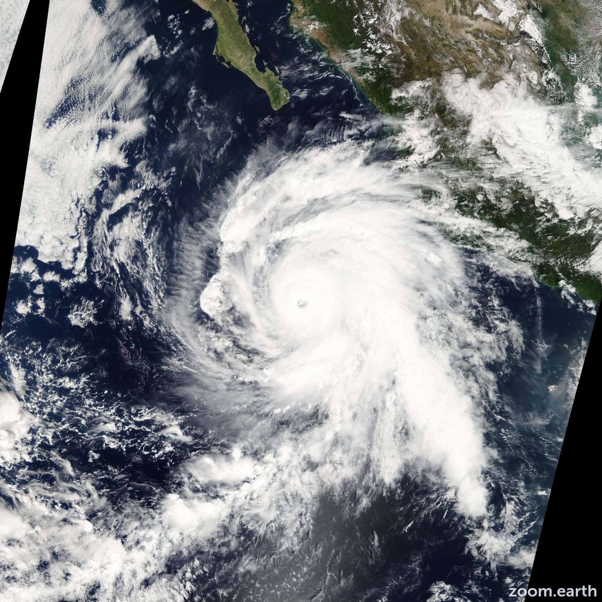 Satellite image of Hurricane Rick 2009