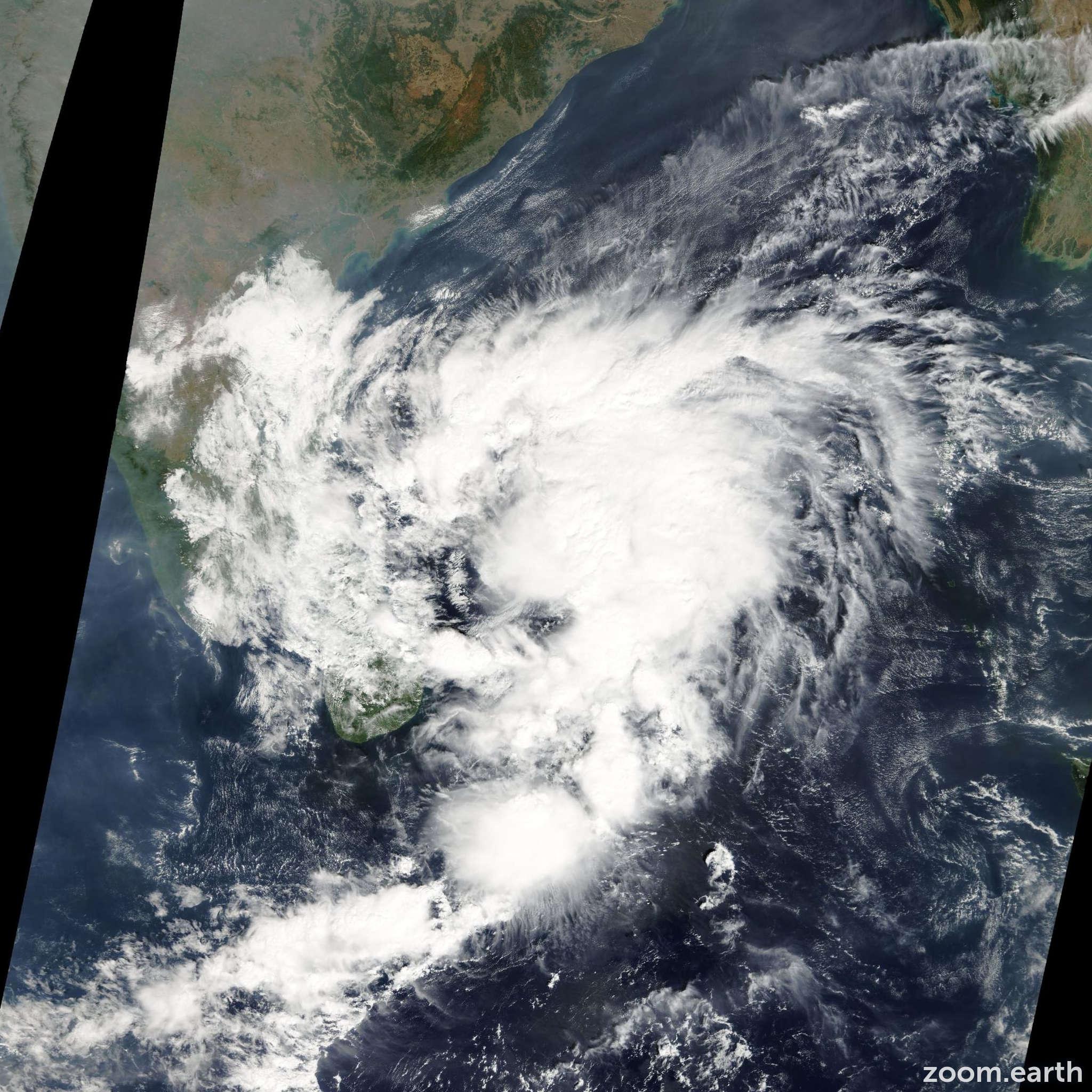 Satellite image of Cyclone Ward 2009