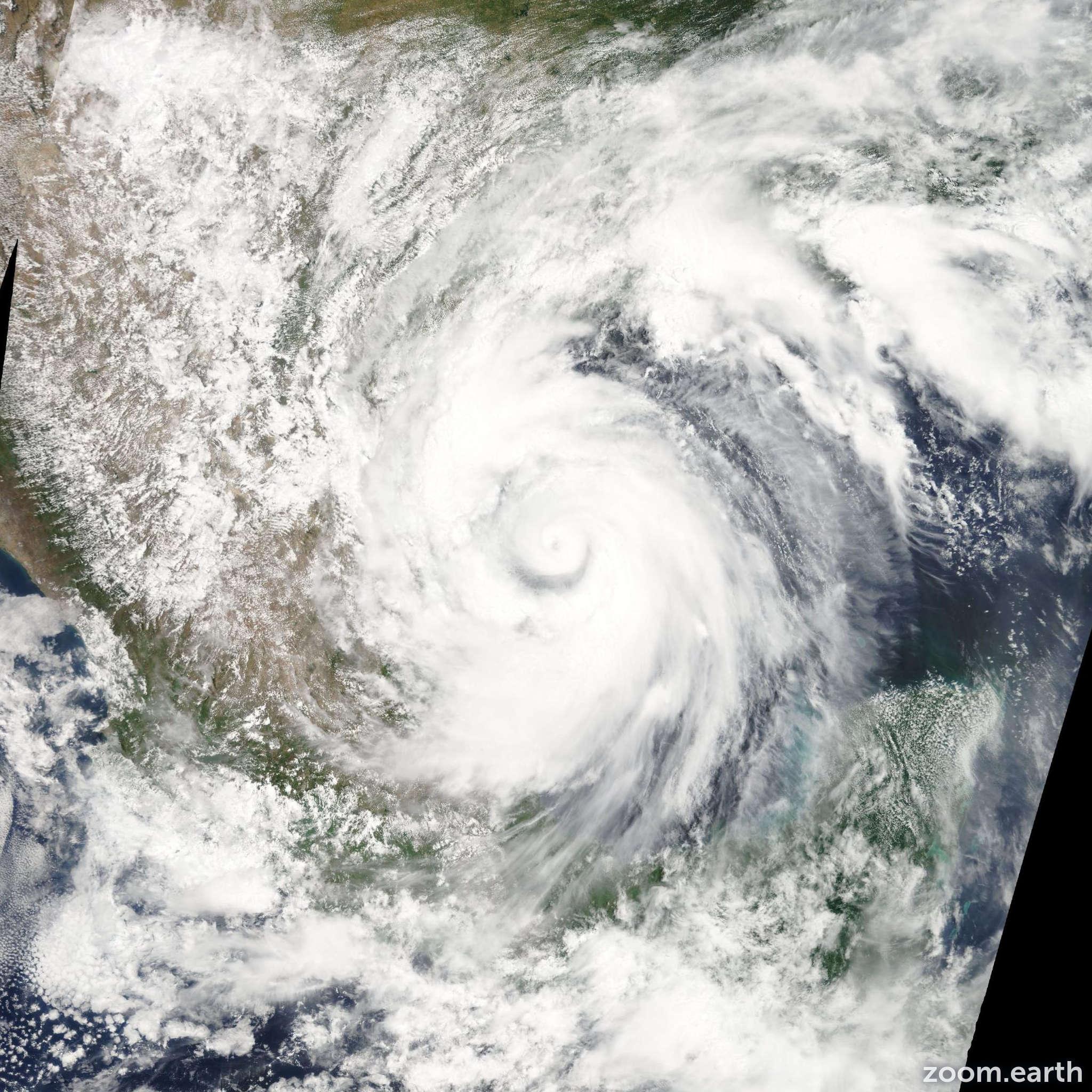 Satellite image of Hurricane Alex 2010