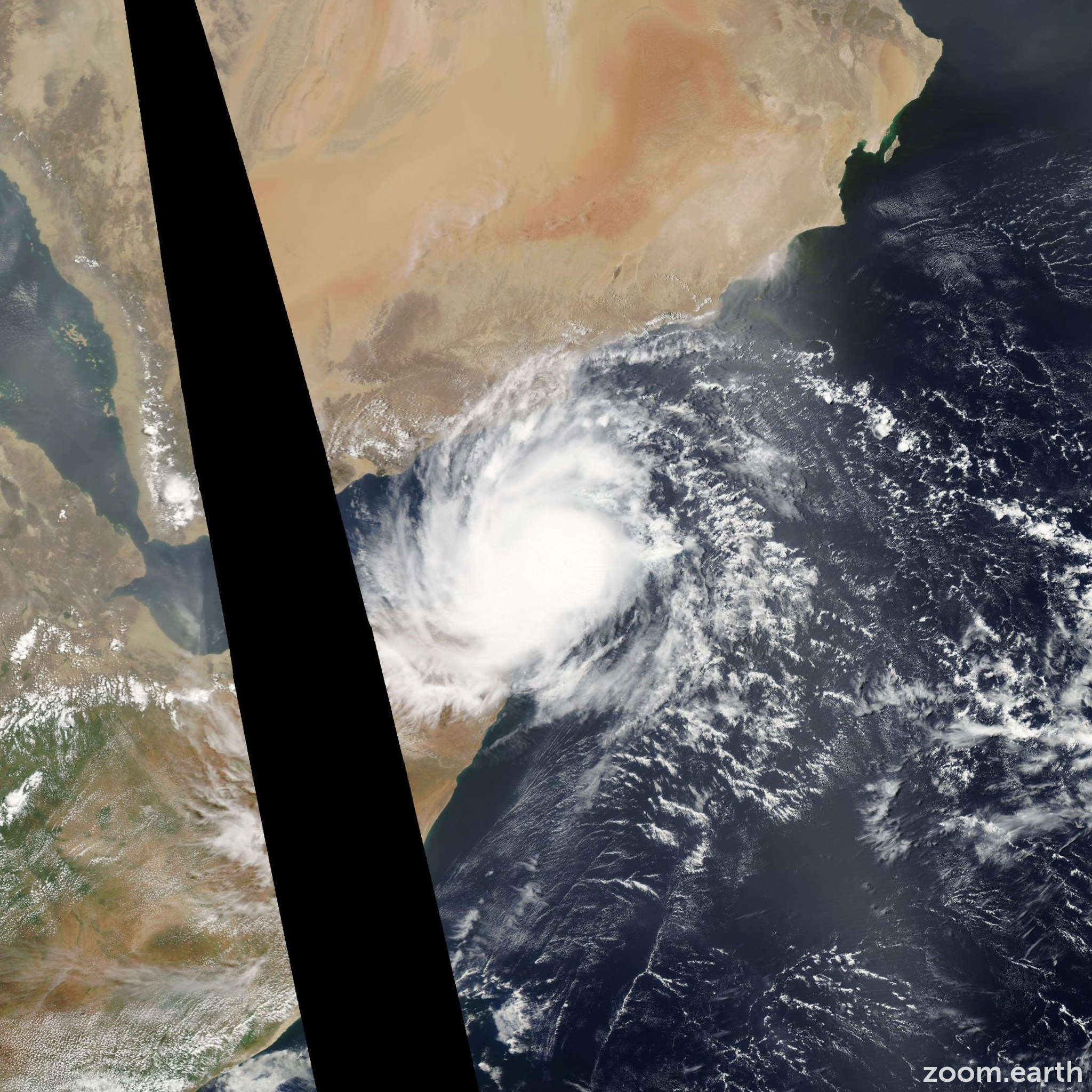 Satellite image of Cyclone Bandu 2010
