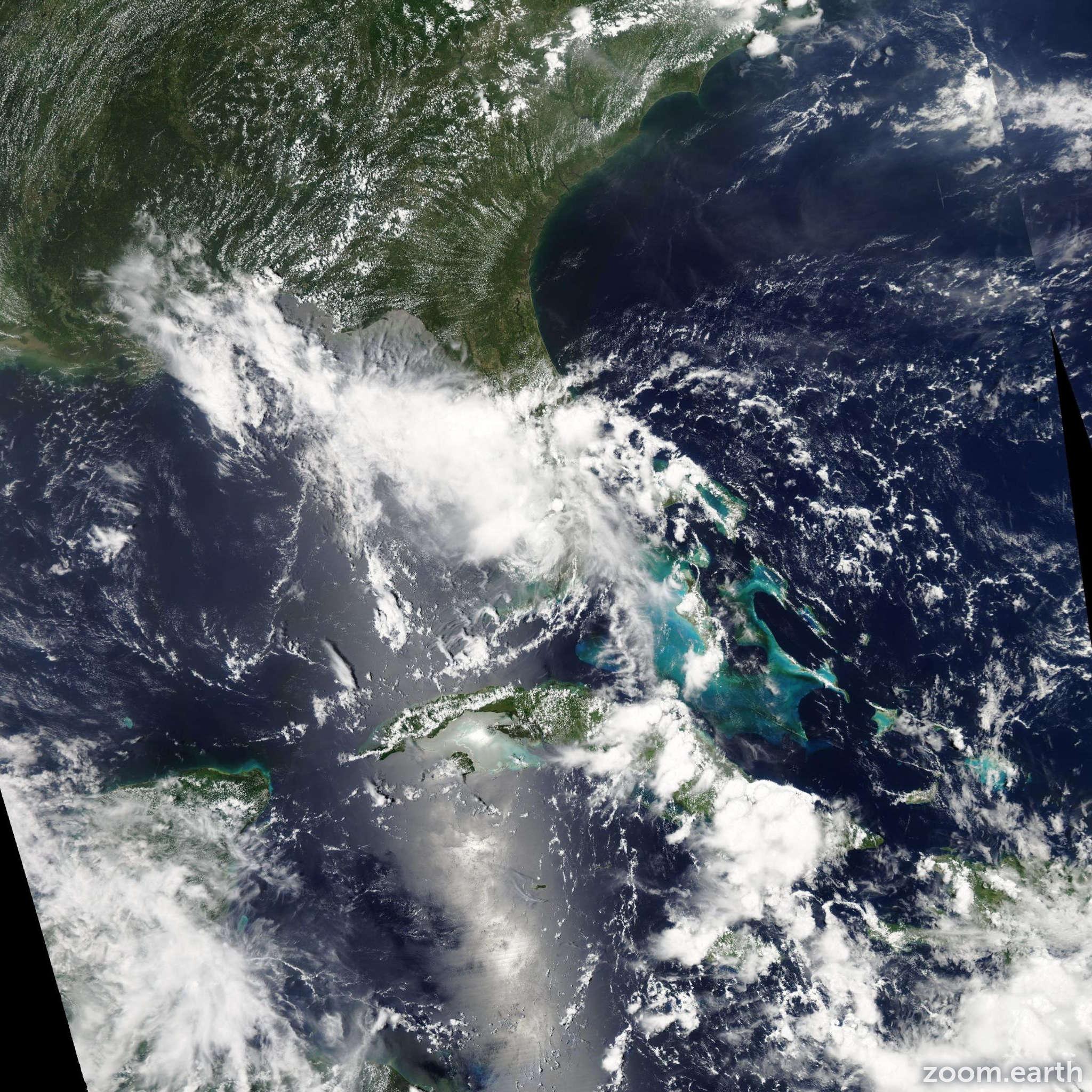 Satellite image of Storm Bonnie 2010