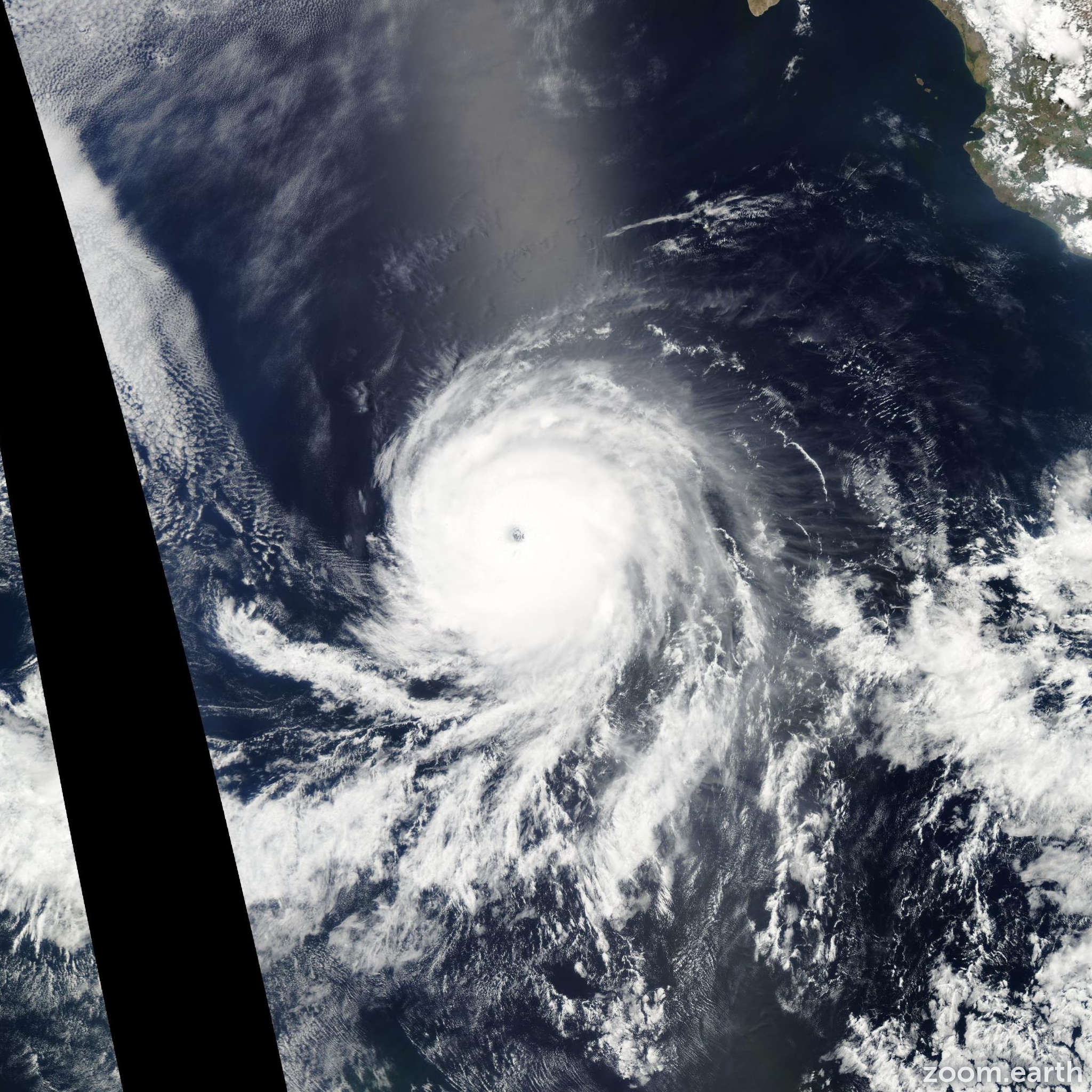 Satellite image of Hurricane Celia 2010